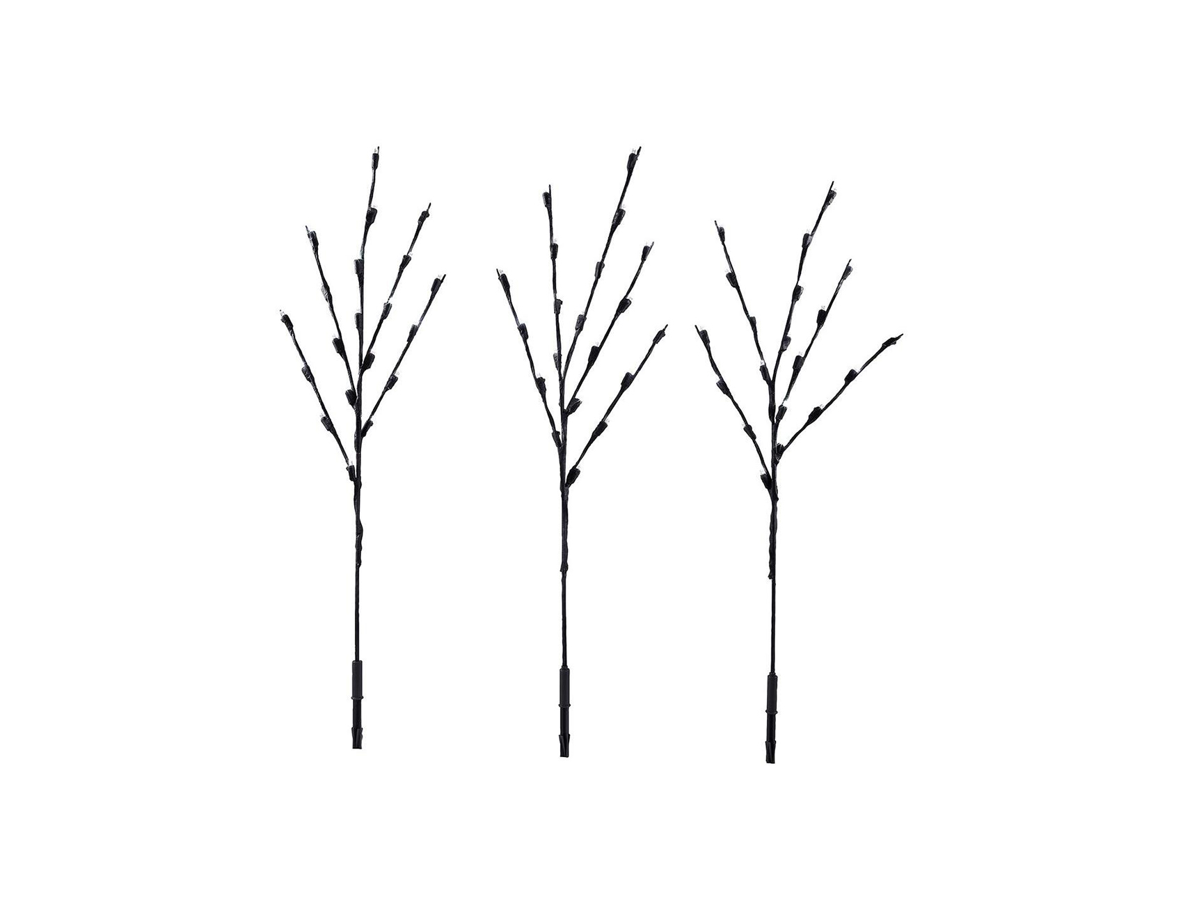 Warm White LED Brown Twig Pathway Light Stakes