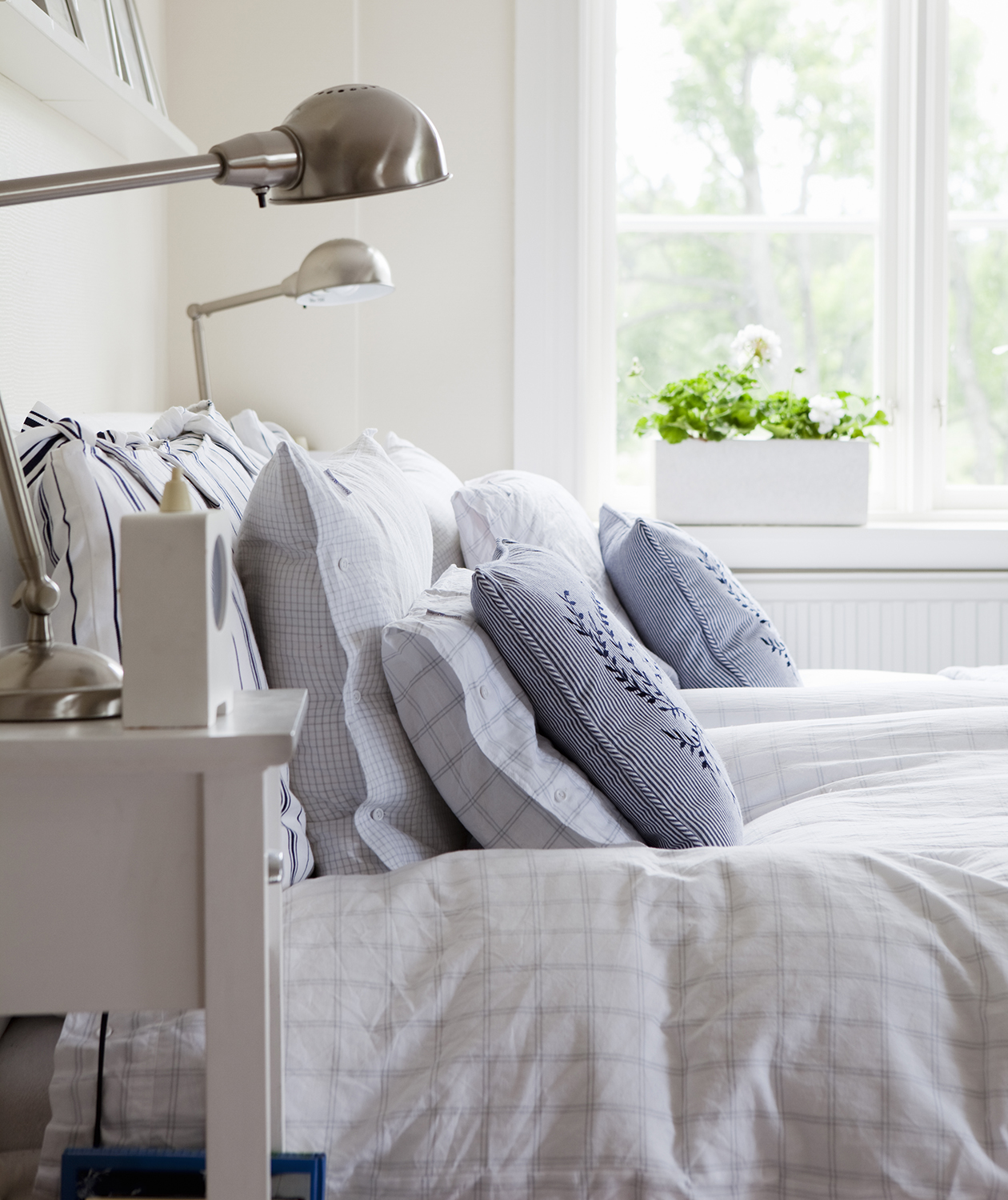 Bedroom with well-made bed