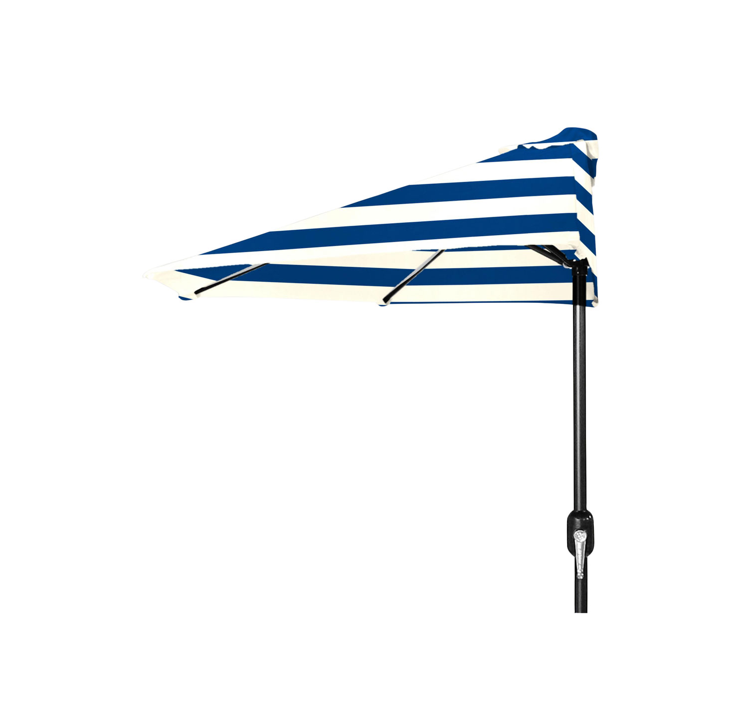 Café Stripe Outdoor Half Umbrella