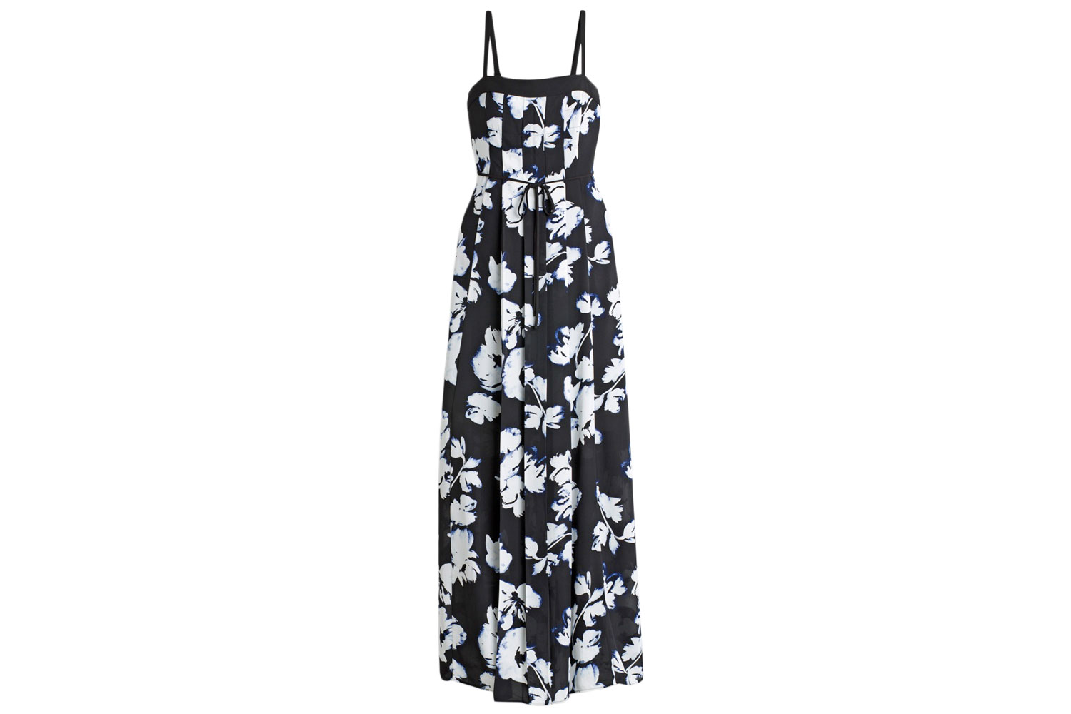 White House Black Market pleated floral maxi dress