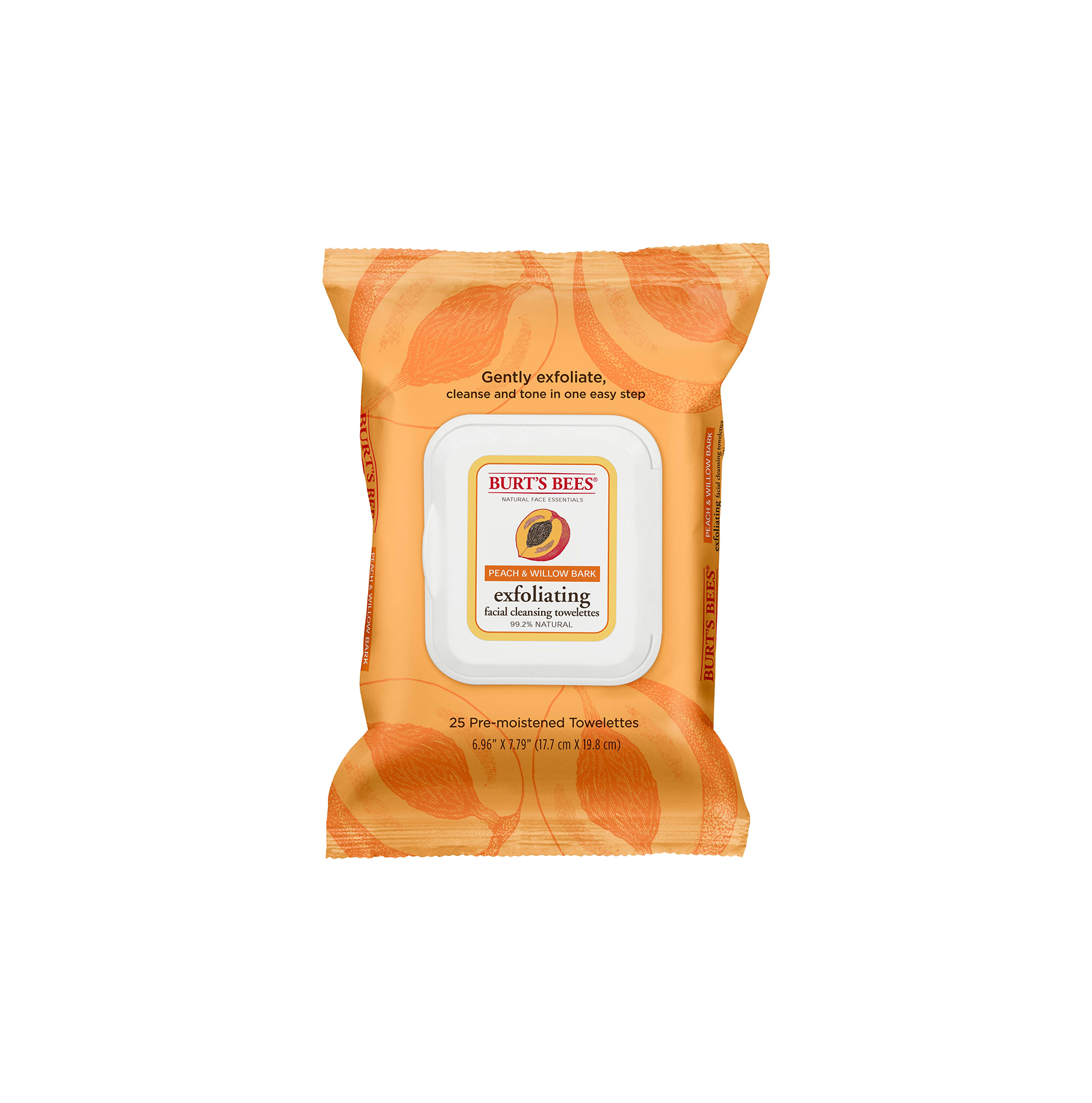 Burt's Bees Peach and Willow Bark Facial Cleansing Towelettes