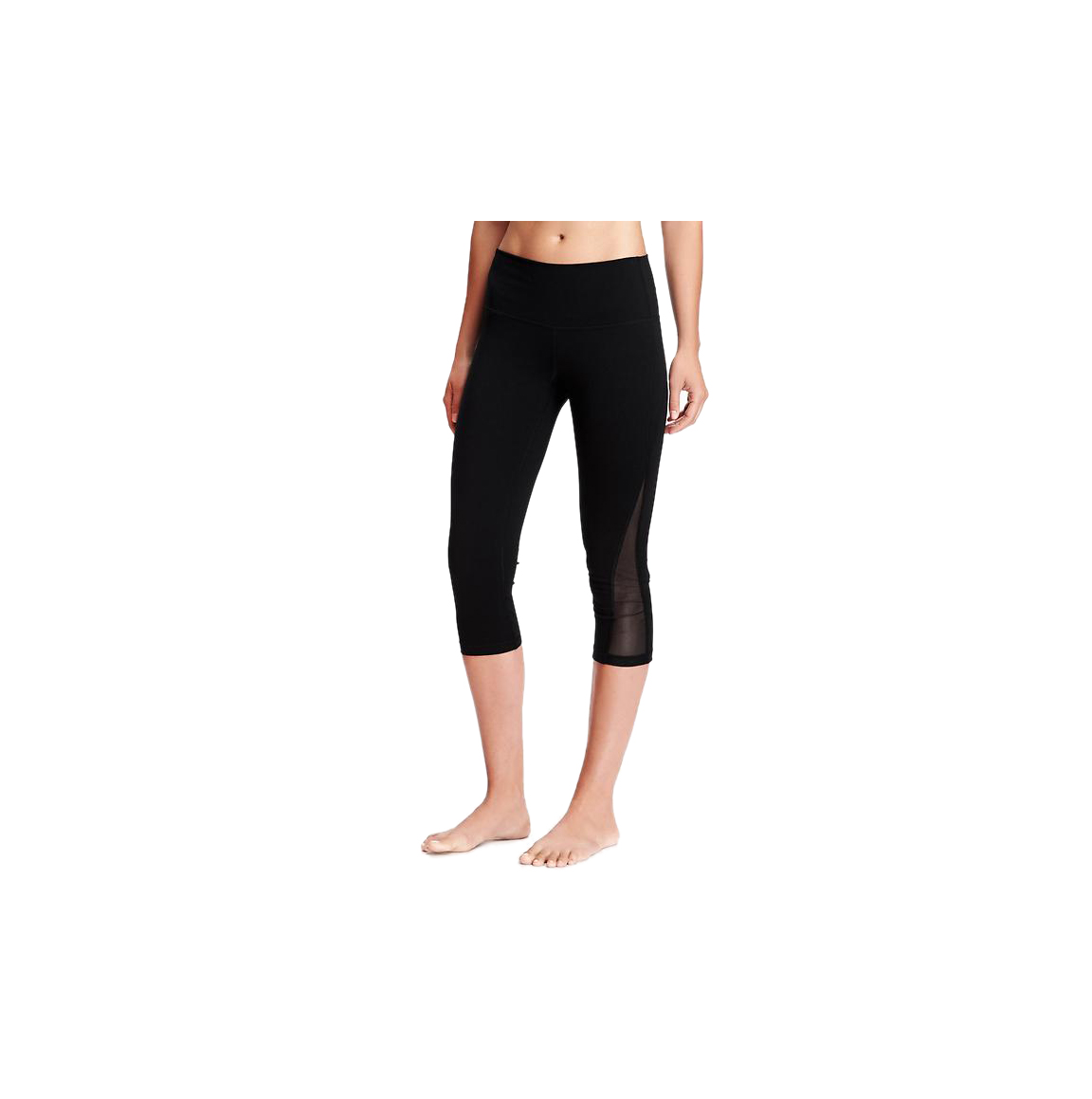 Old Navy Go-Dry Mid-Rise Mesh Yoga Crop