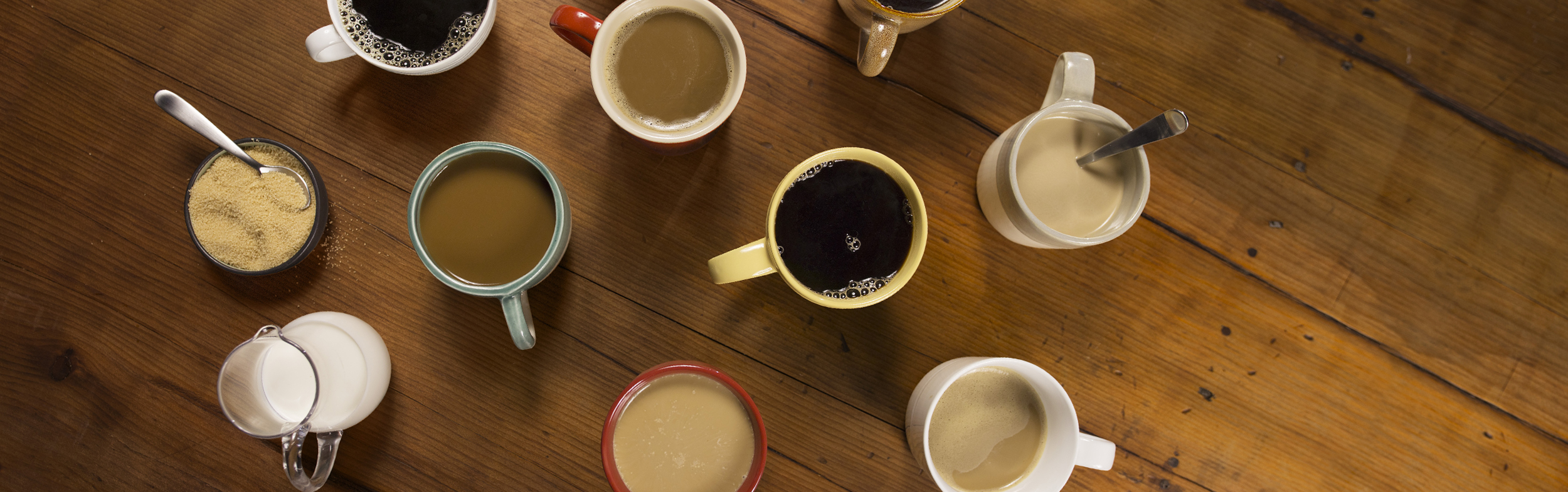 table with coffee cups