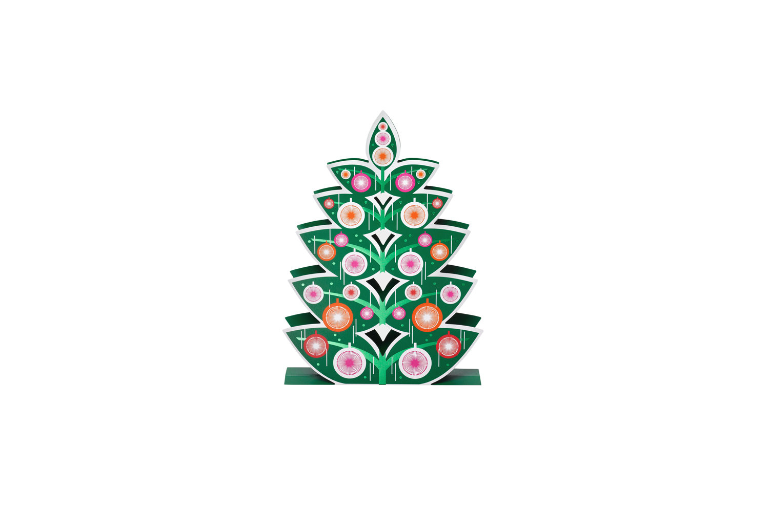 Retro Tree Holiday Card