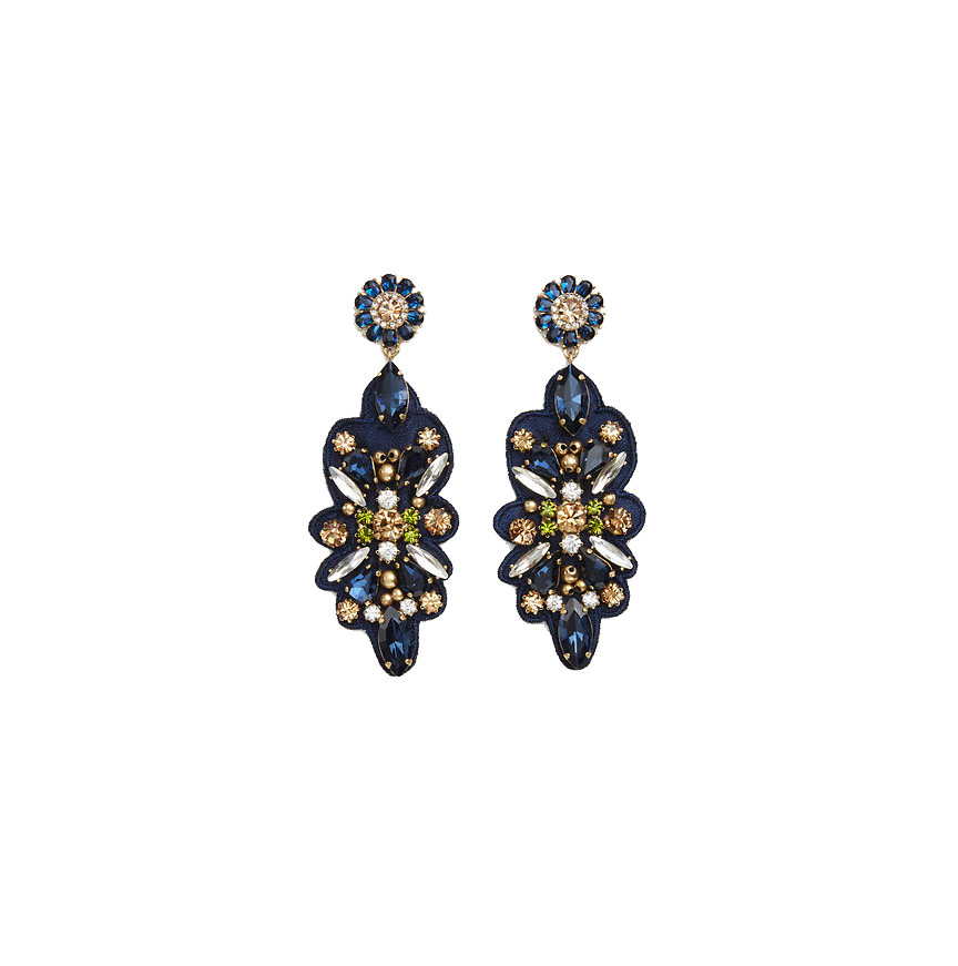 Ann Taylor Floral Statement Earrings