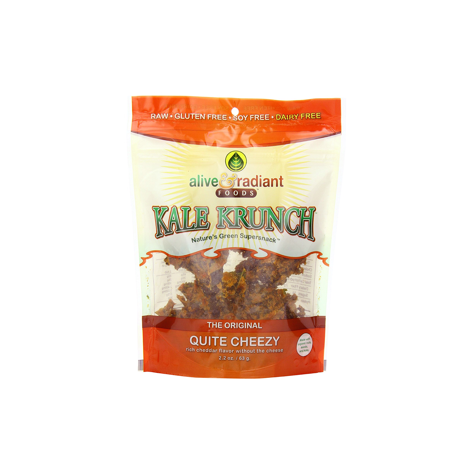 Alive and Radiant Quite Cheezy Kale Crunch