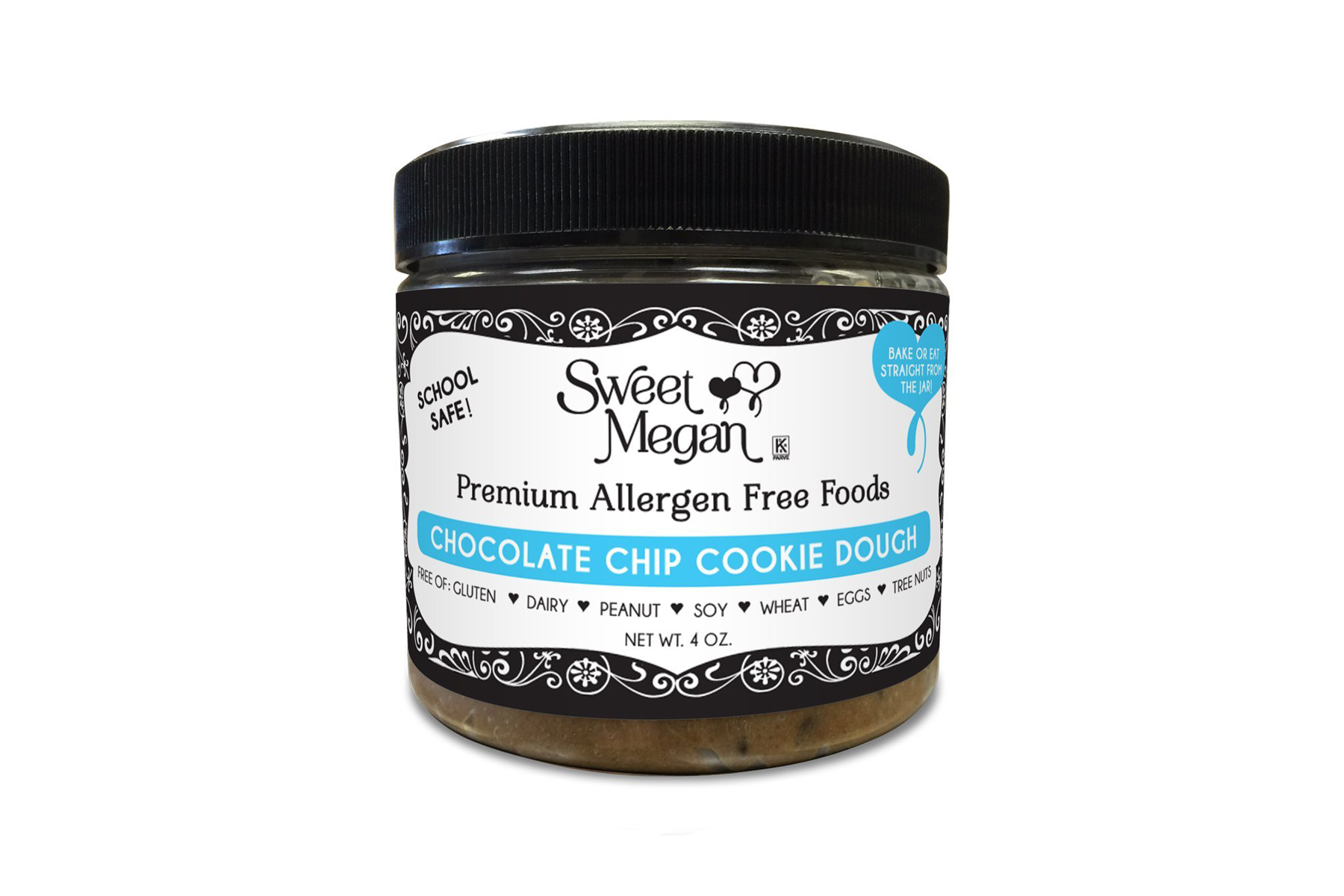 Sweet Megan Edible Bake-able Allergen Free Cookie Dough