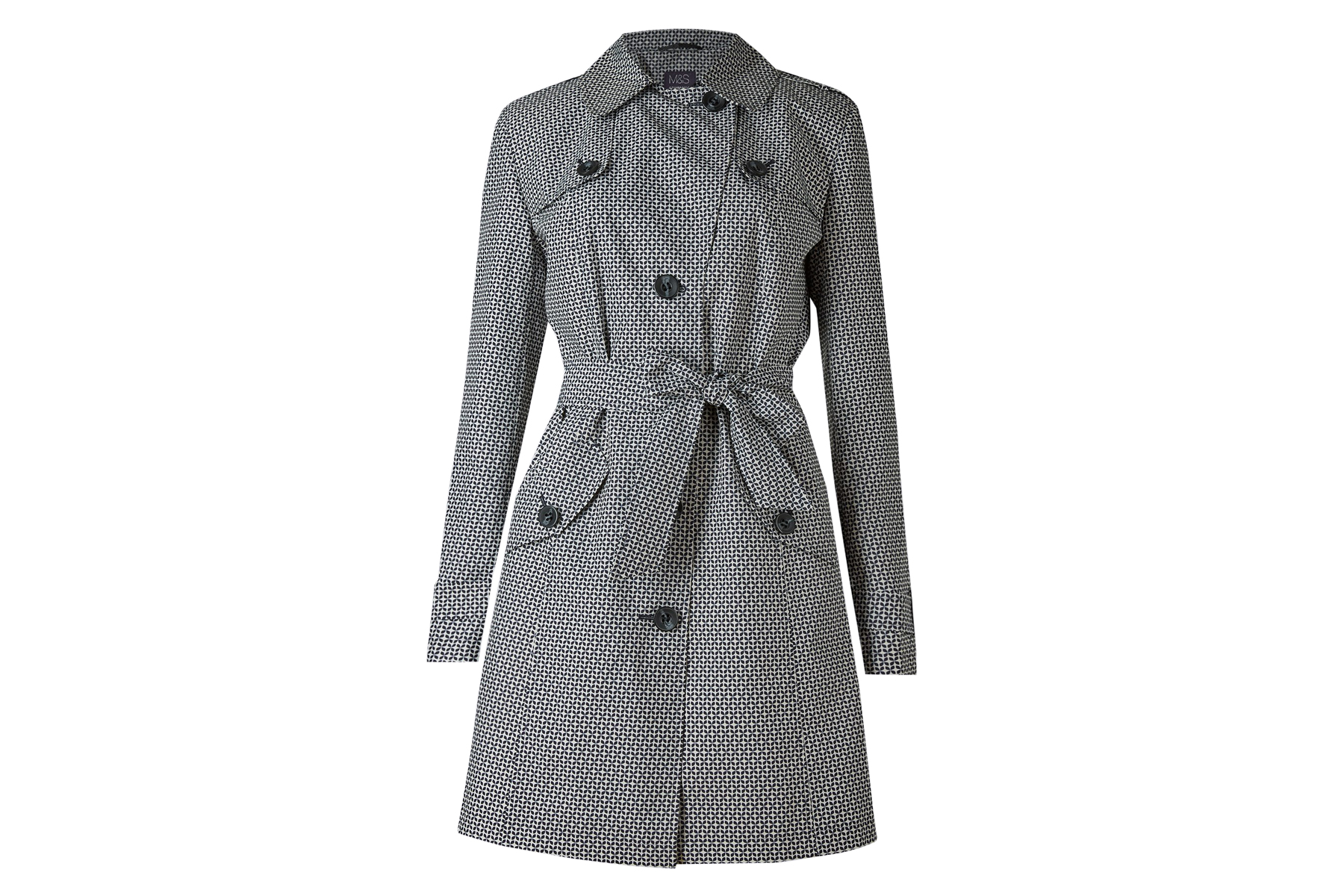 Marks & Spencer Printed Trench Coat