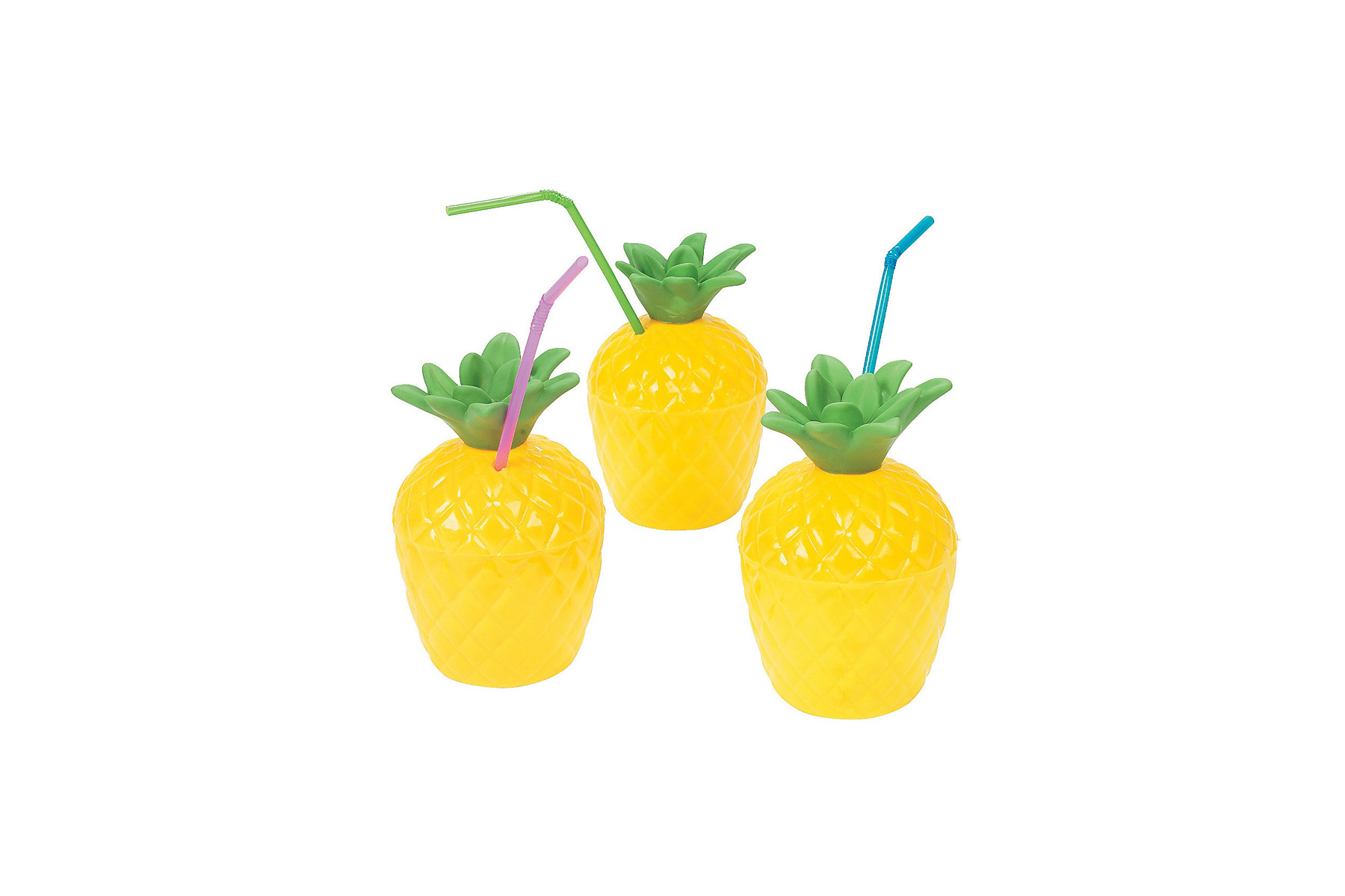 Oriental Trading Pineapple Cups with Lids