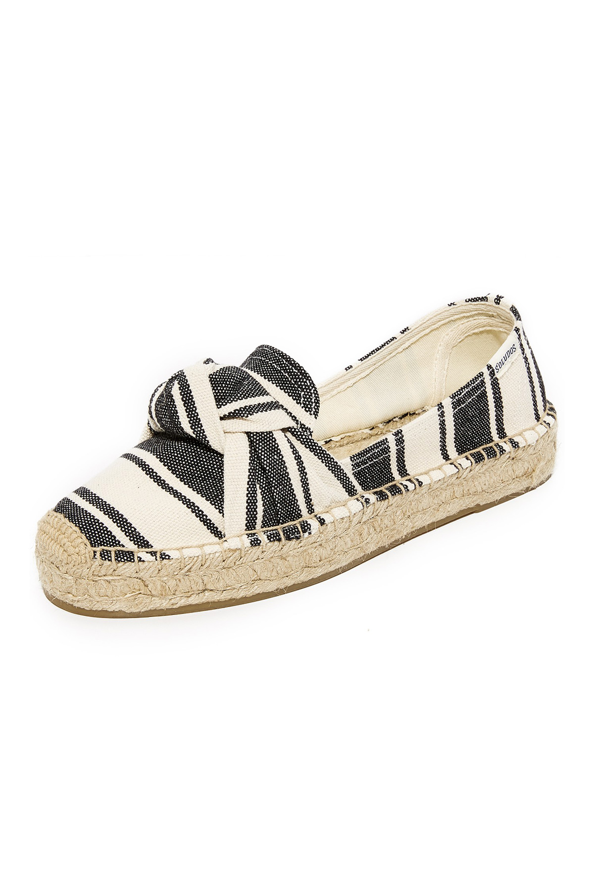Soludos Knotted Platform Smoking Slippers