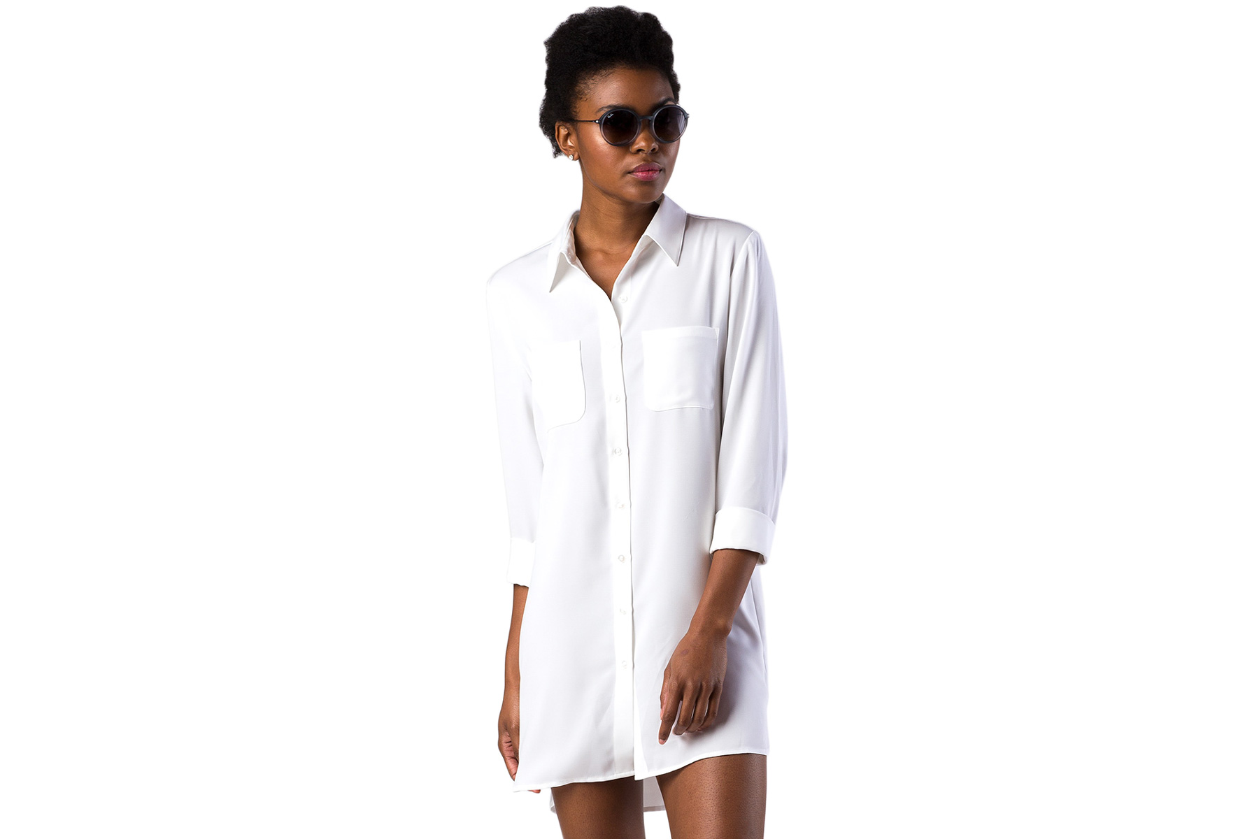 Mott50 Long Sleeve Woven Boyfriend Button Down