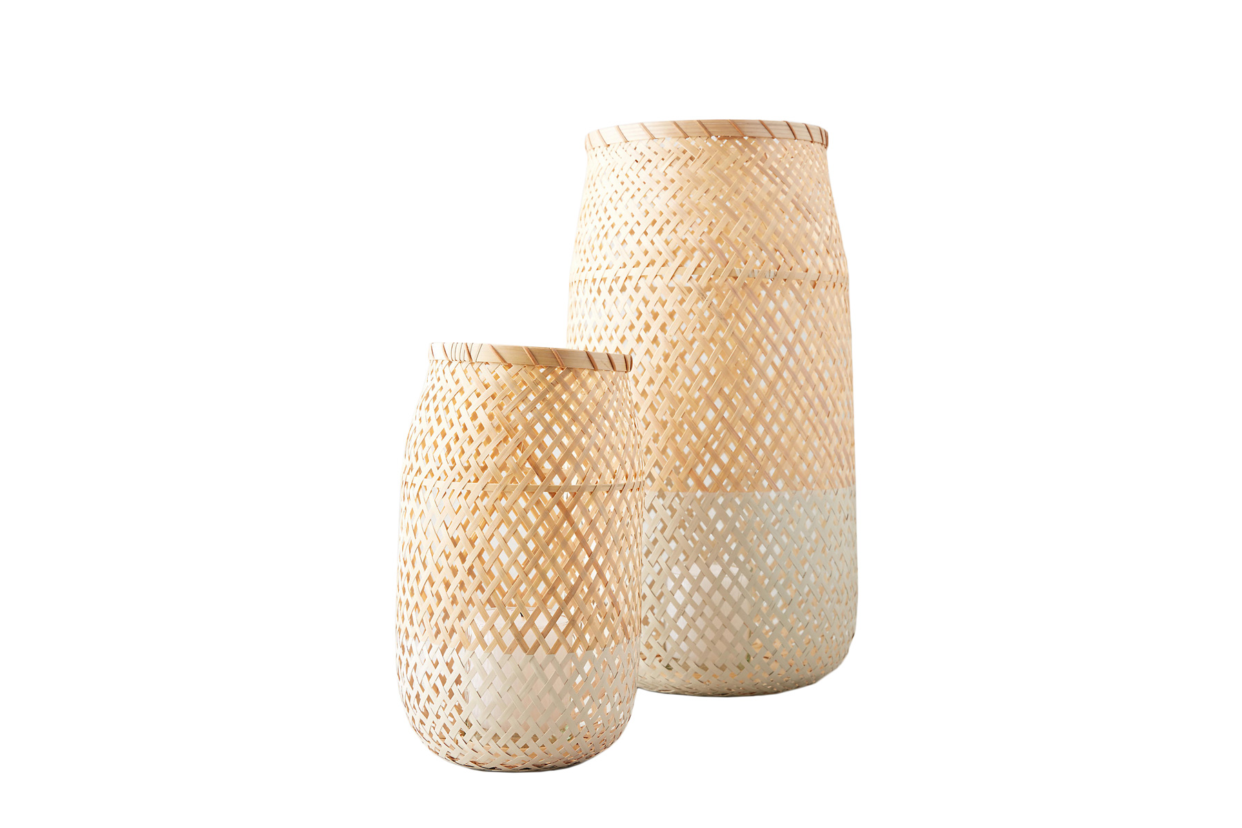 Anthropologie Small Wicker Candle Holder