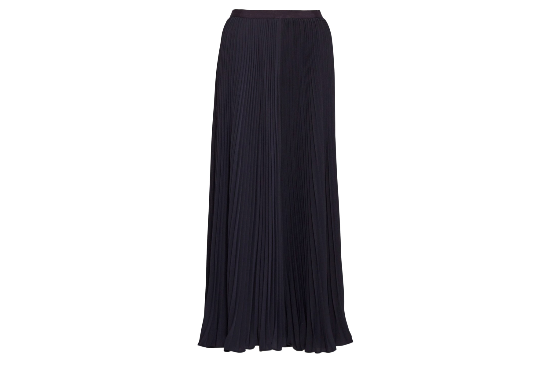 French Connection Classic Crepe Pleated Maxi Skirt