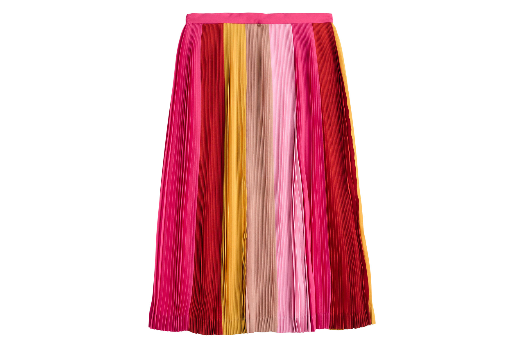 J. Crew Pleated Ombre Skirt
