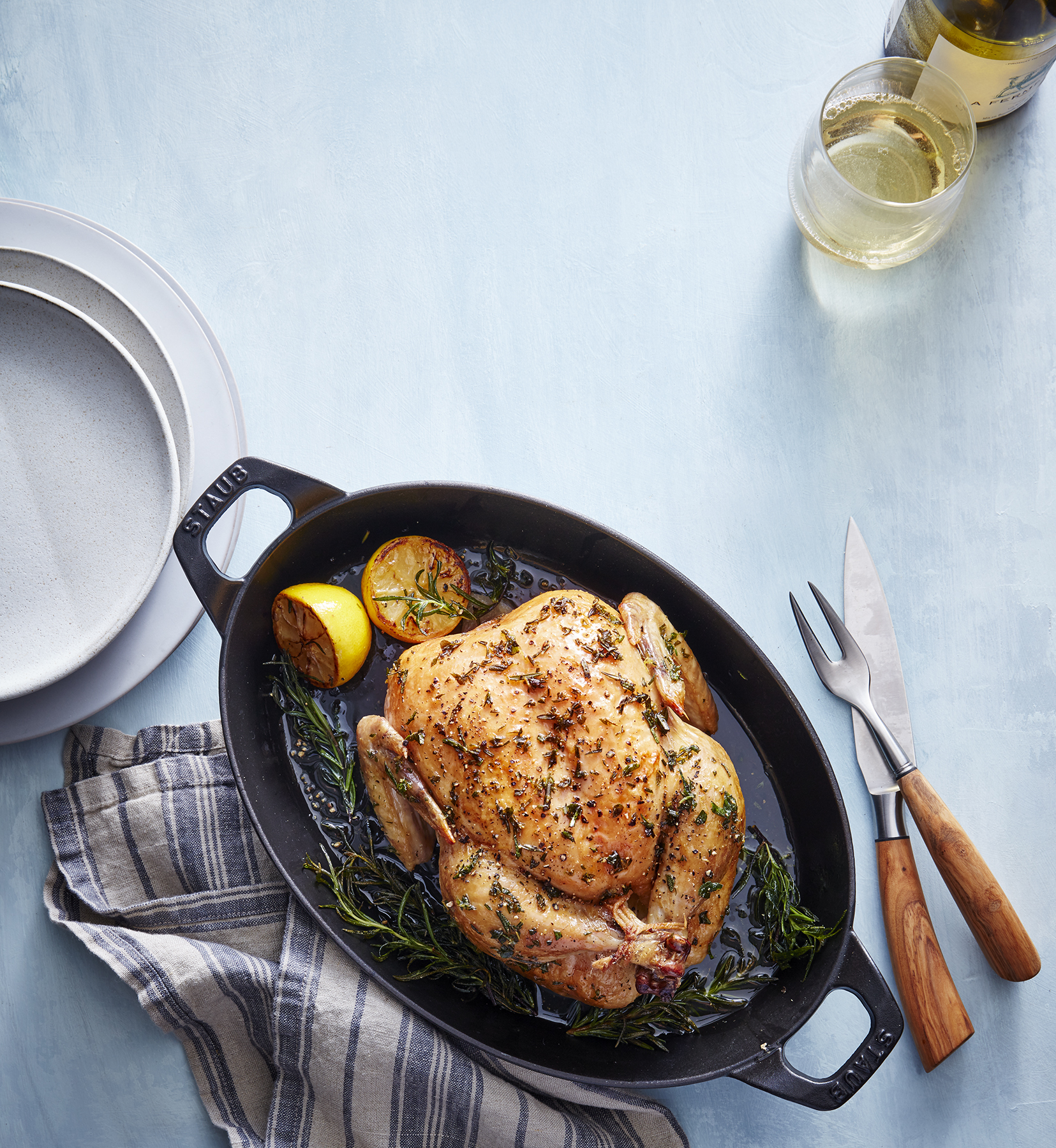 Clone of Slow-Roasted Lemon Herb Chicken (Roasting Recipes)