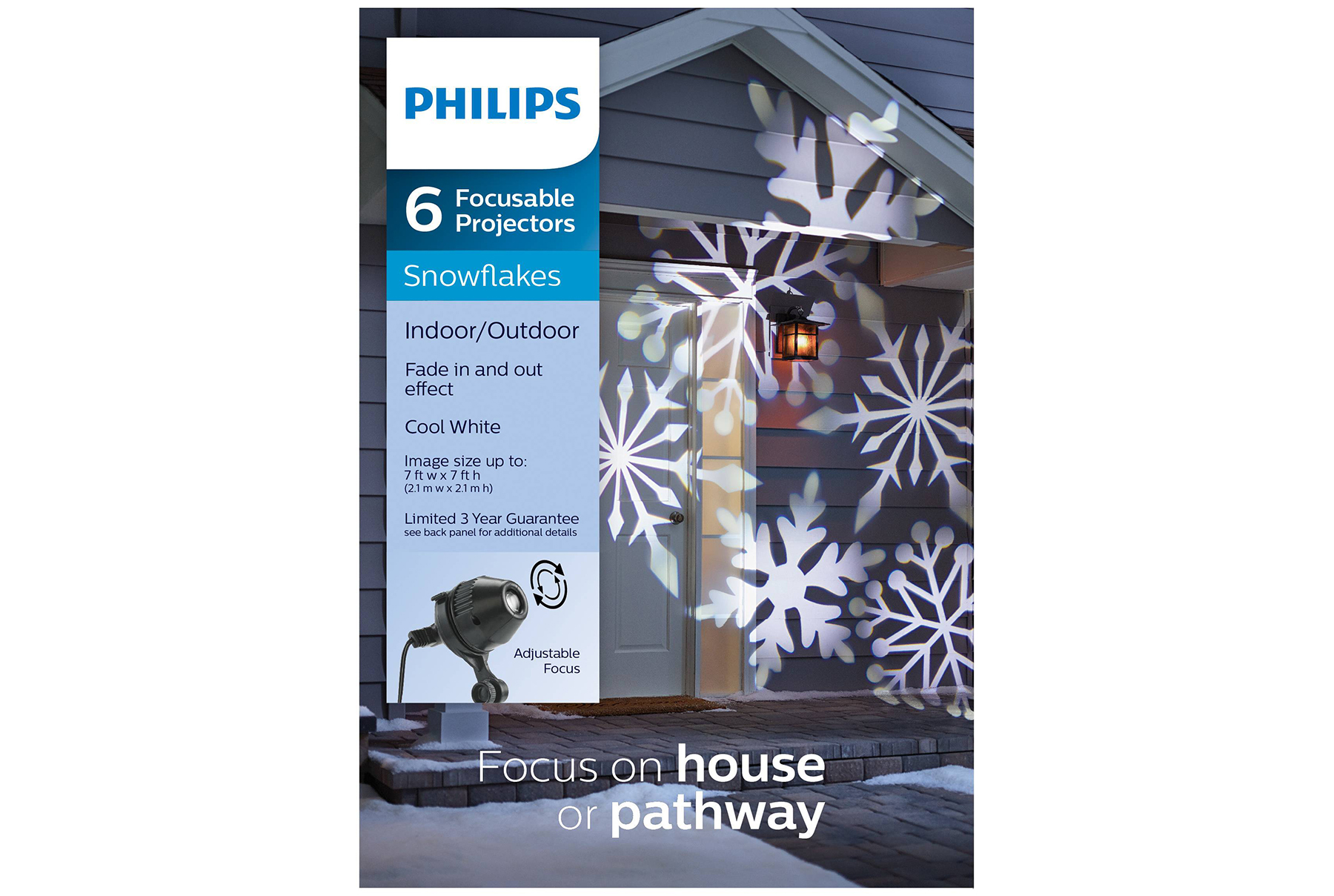 Philips Christmas LED Cool White Snowflake Projector