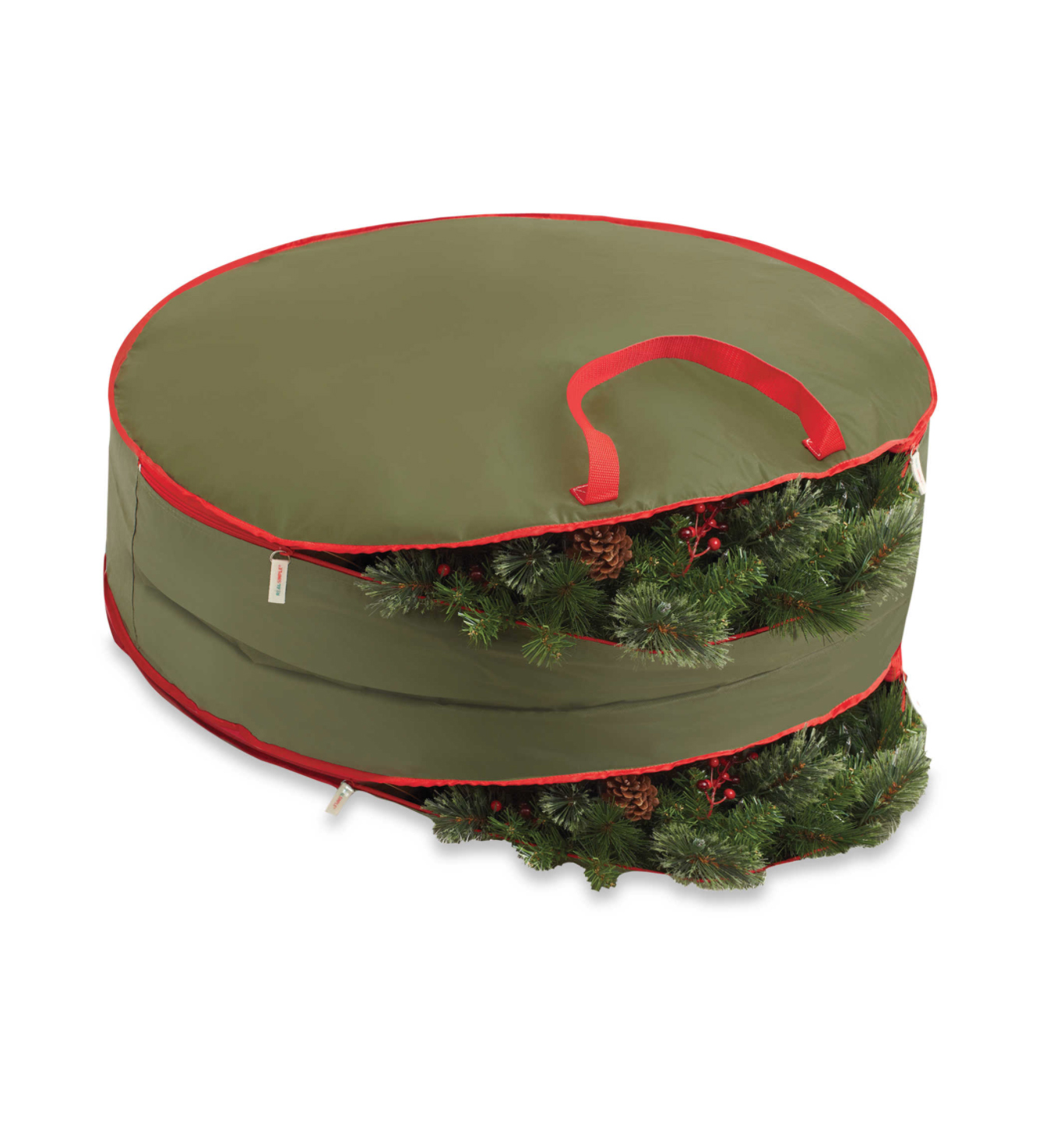 Real Simple Double-Sided Holiday Wreath Storage Bag