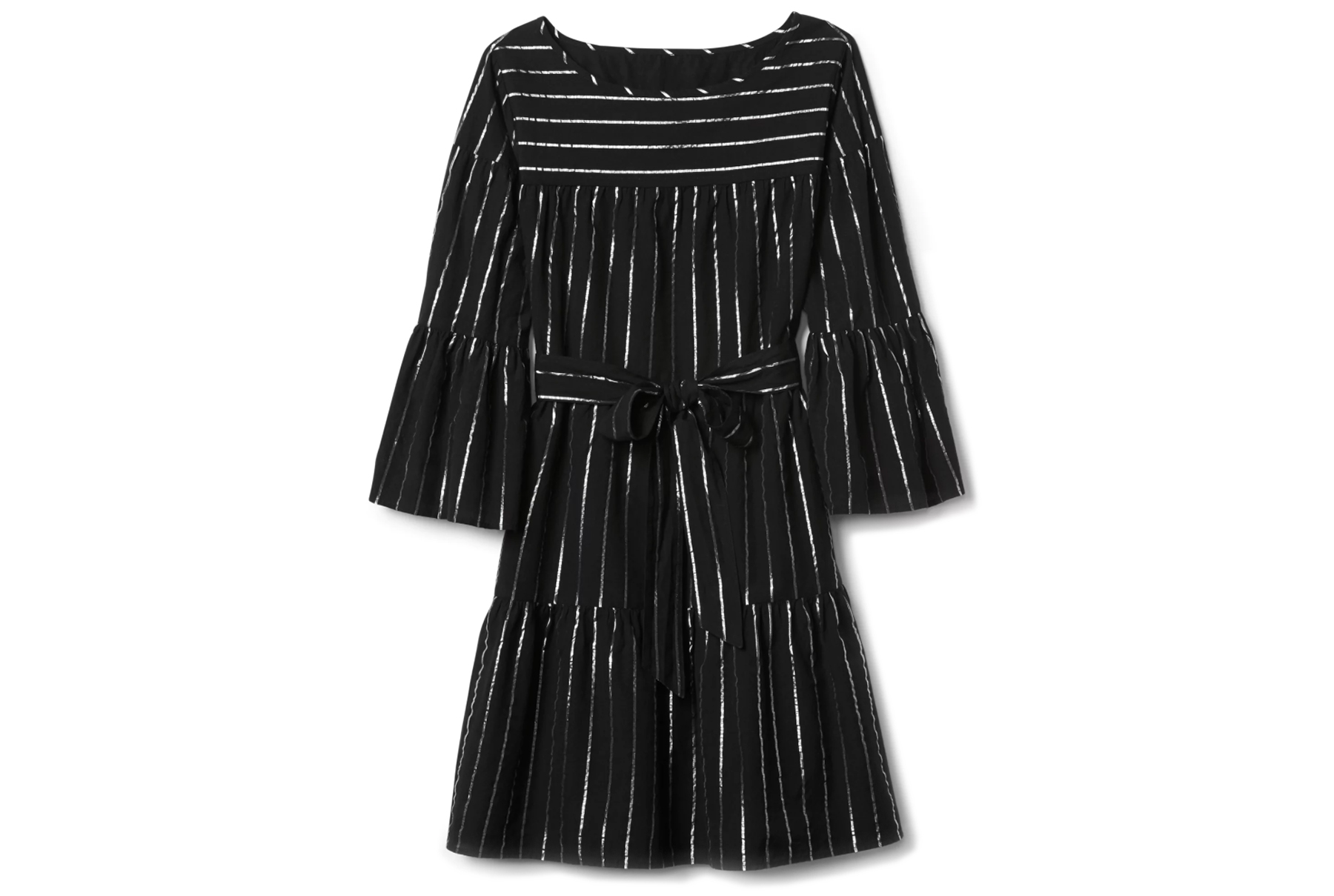 GAP Stripe Bell Sleeve Tier Dress