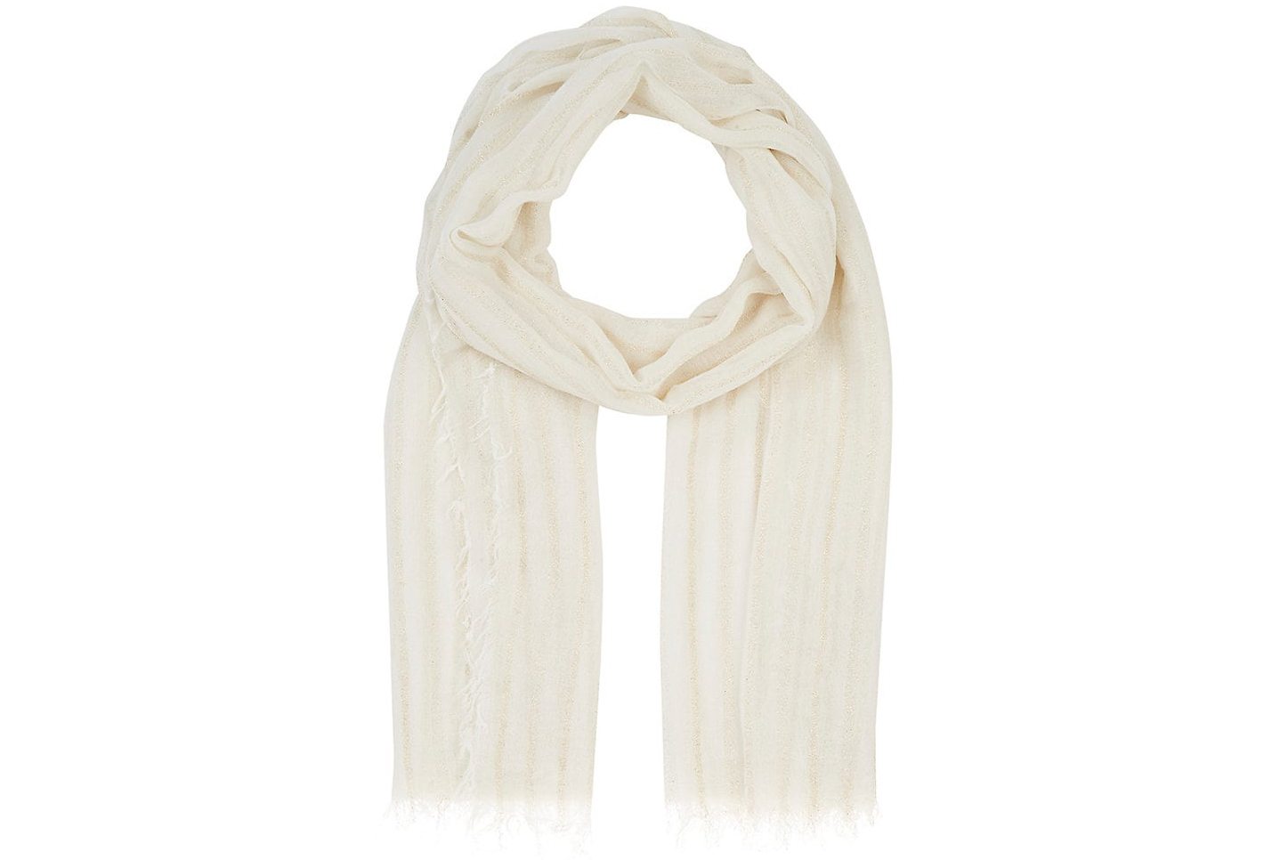 Barney's New York Striped Gauze Scarf