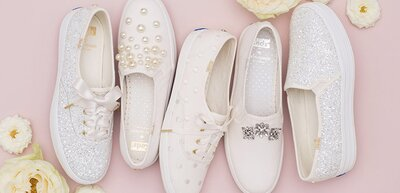 cde53e43f66 Keds and Kate Spade Launch Dreamy Line of Wedding Sneakers