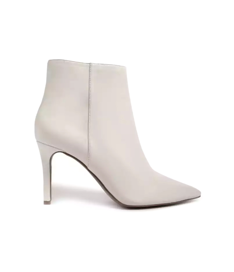 Forever 21 Pointed Faux Leather Ankle Boots