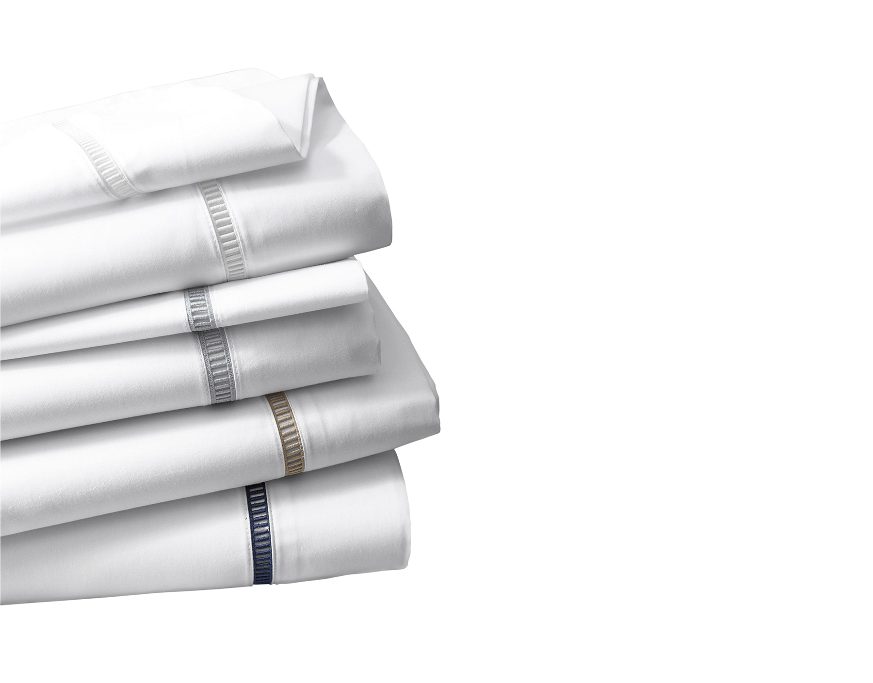 Wrinkle-Resistant Embroidered Sateen Bedding (All The Luxe Sheets Our Editors Love)