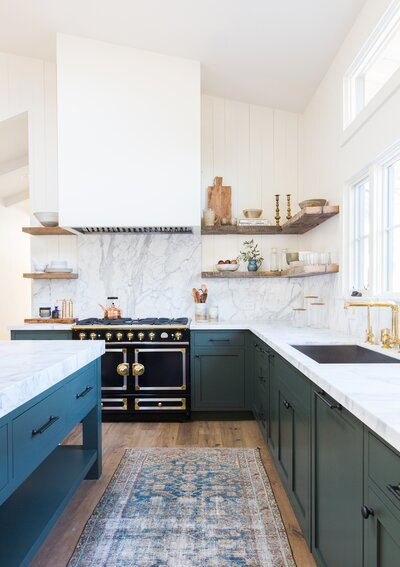 Amber Interiors Green Kitchen Want A Paint Color