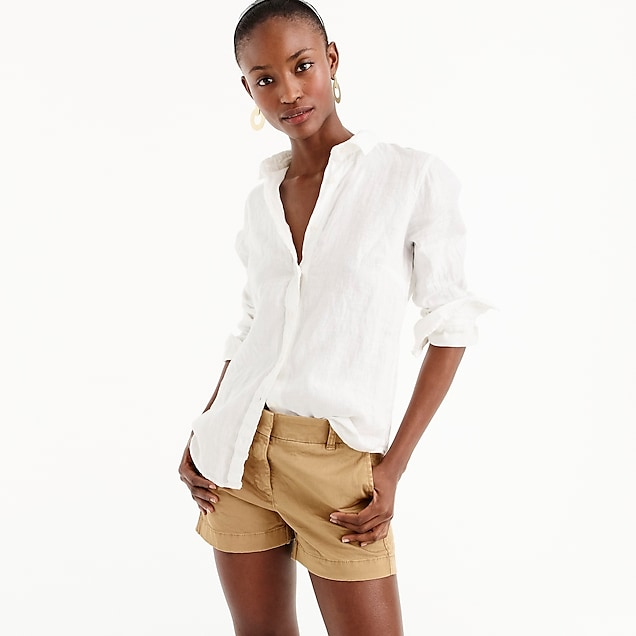 J.Crew Slim Perfect Shirt in Piece-dyed Irish Linen