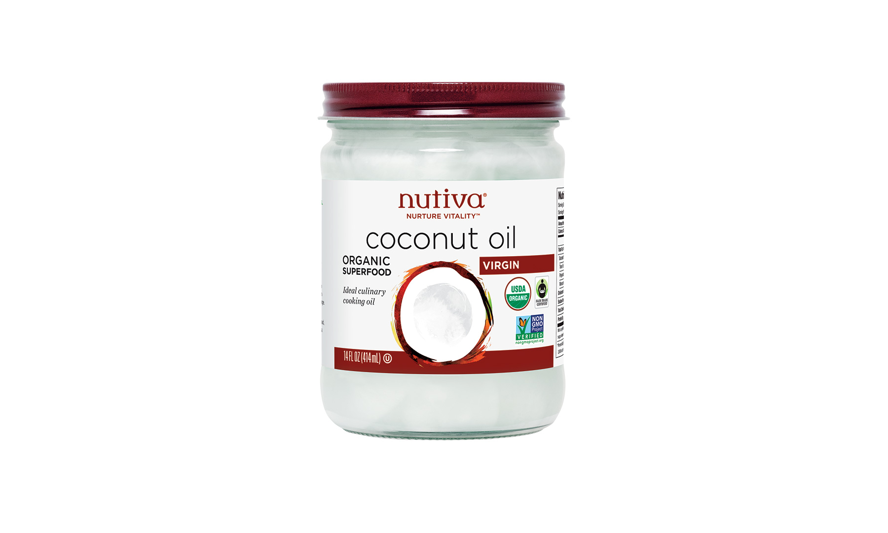 Nutiva Organic Virgin Coconut Oil (1018BDI)