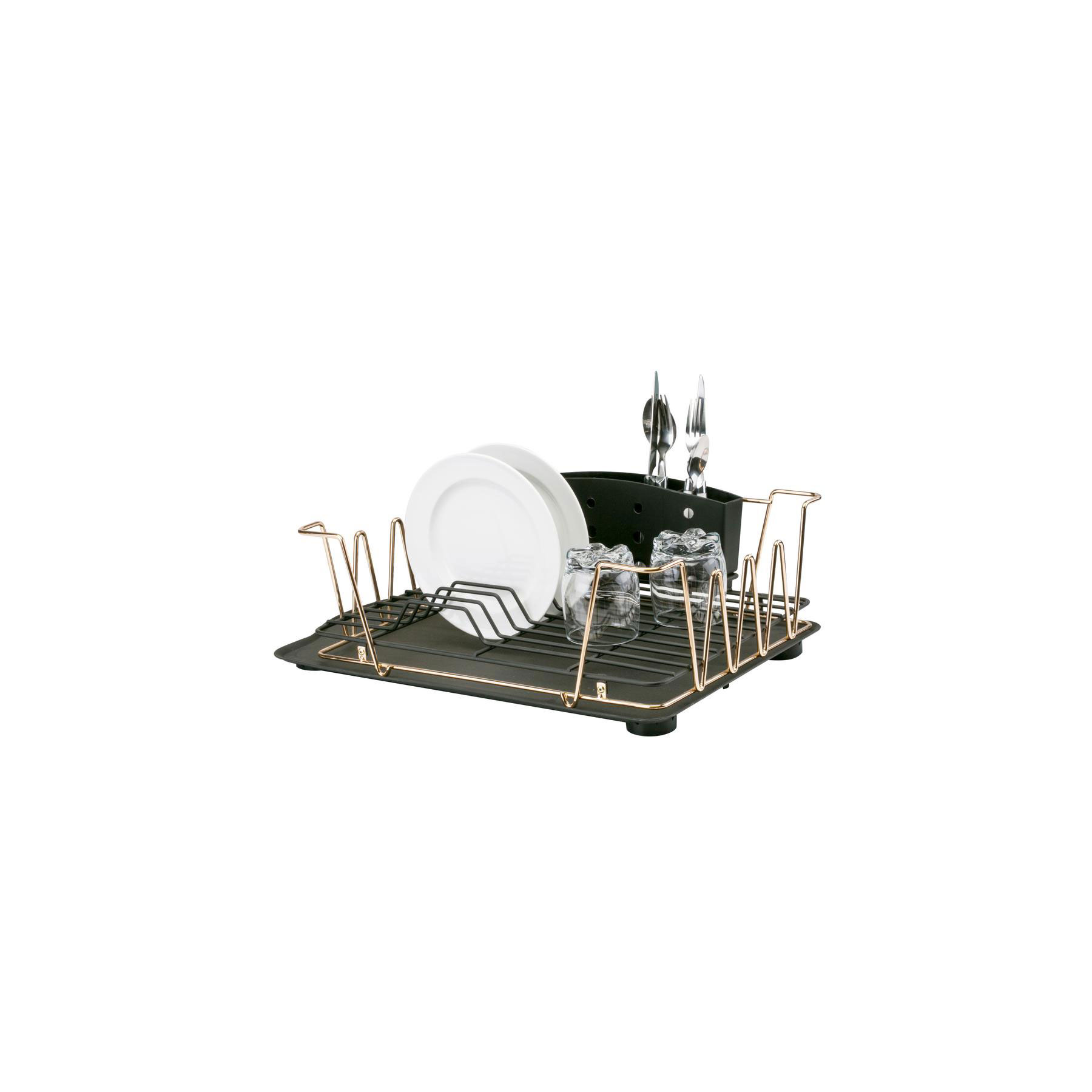 Macbeth Contemporary 3-Piece Rose Gold Dish Rack Set