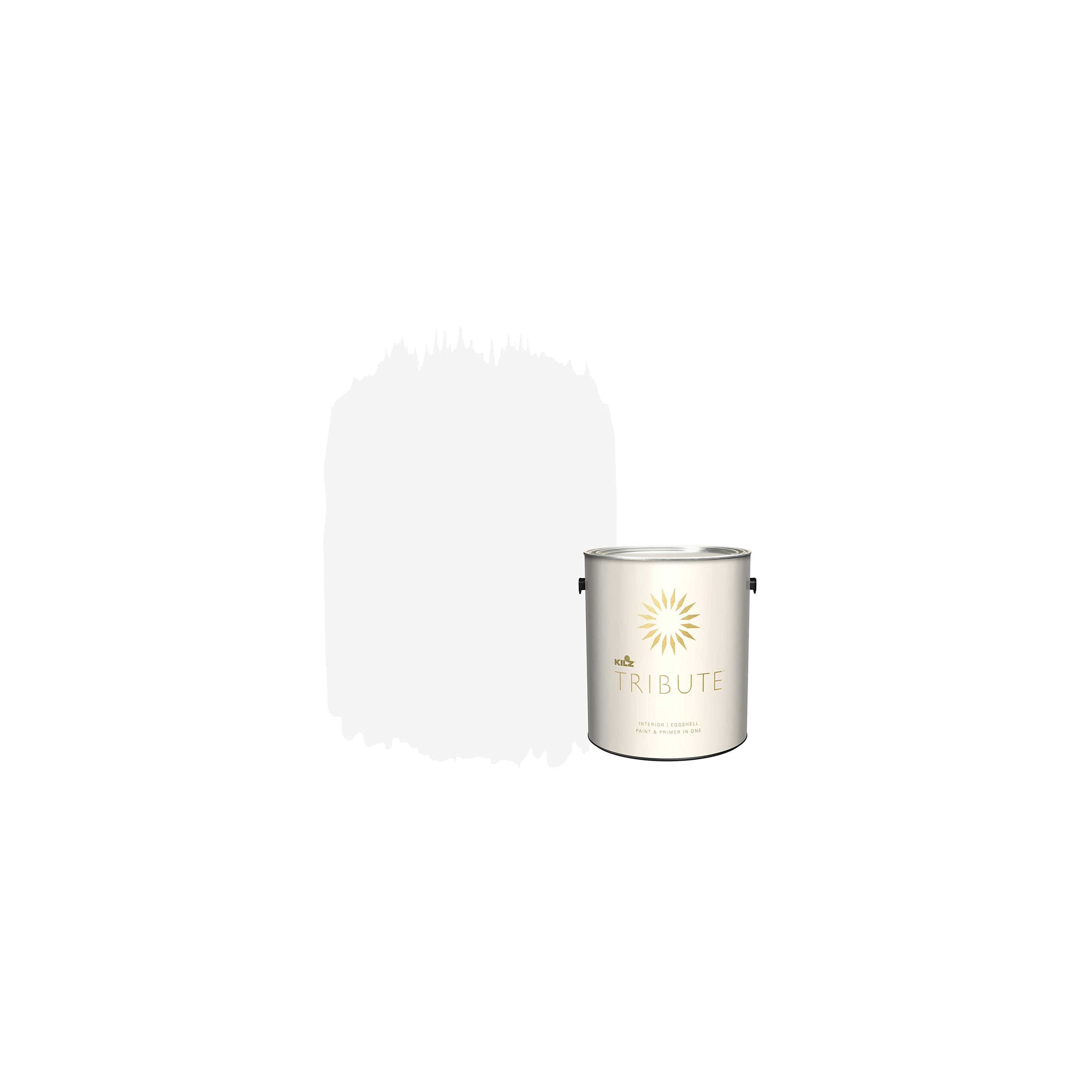 Contemporary White KILZ Tribute Interior Eggshell Paint and Primer