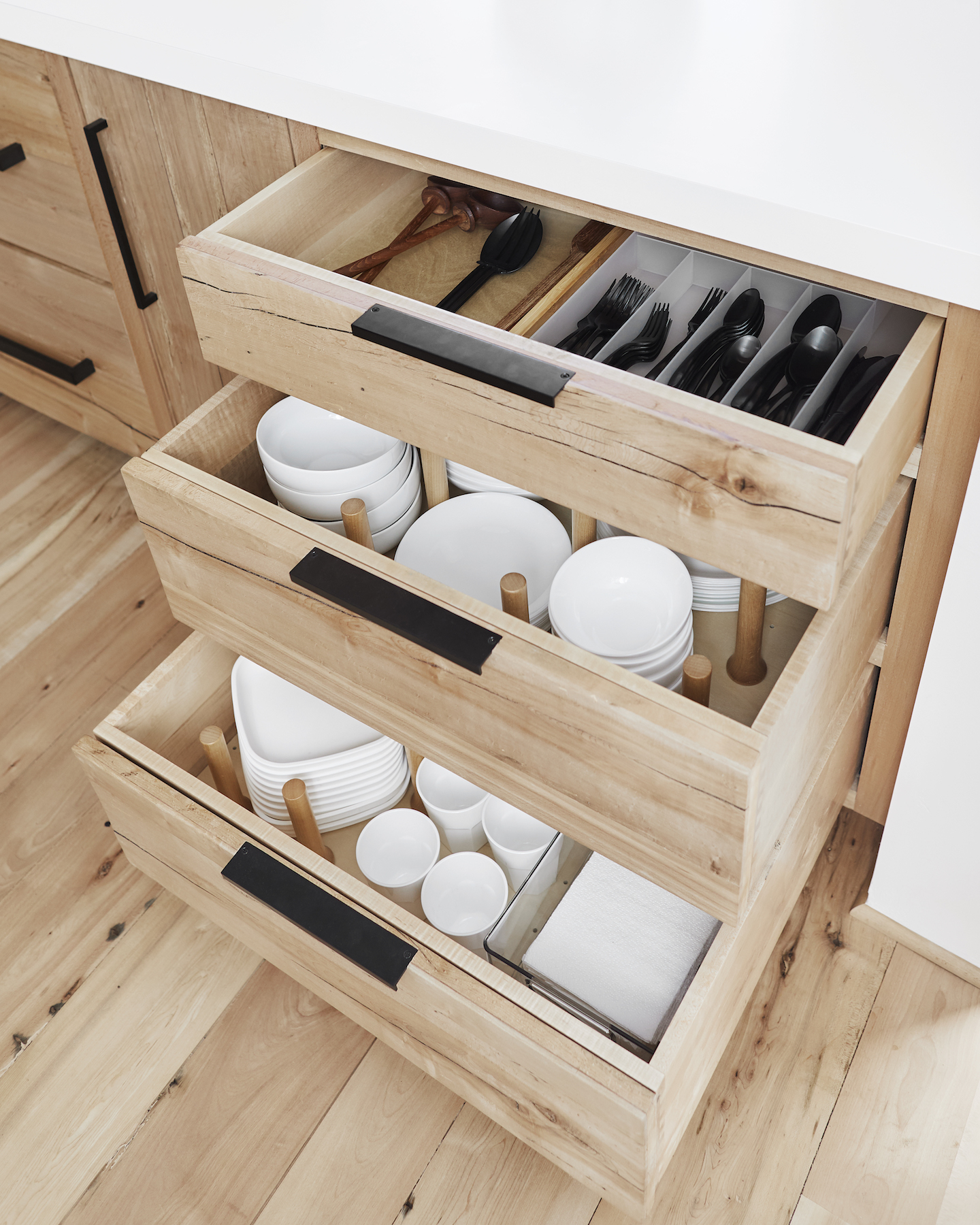 Emily Henderson Kitchen Organization, Pull-Out Drawers