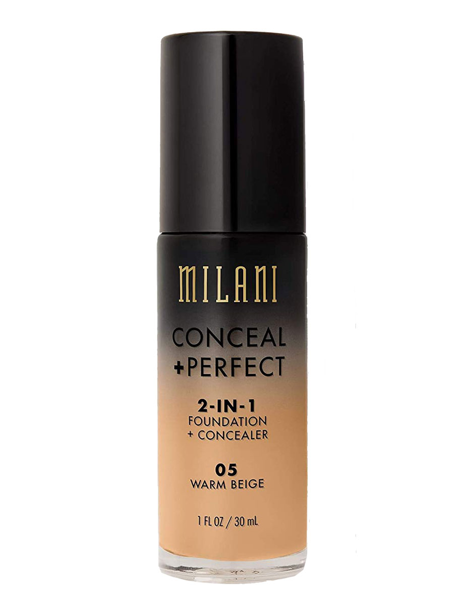 Milani Conceal and Protect 2 in 1 Foundation and Concealer (Sweat-proof Makeup)