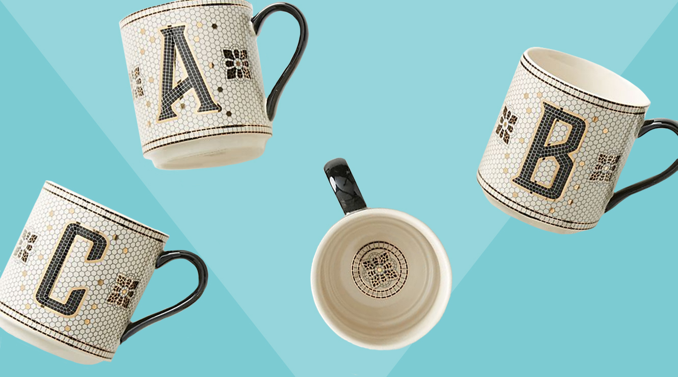 Last-Minute Personalized Gifts, Monogram Anthropologie Mugs