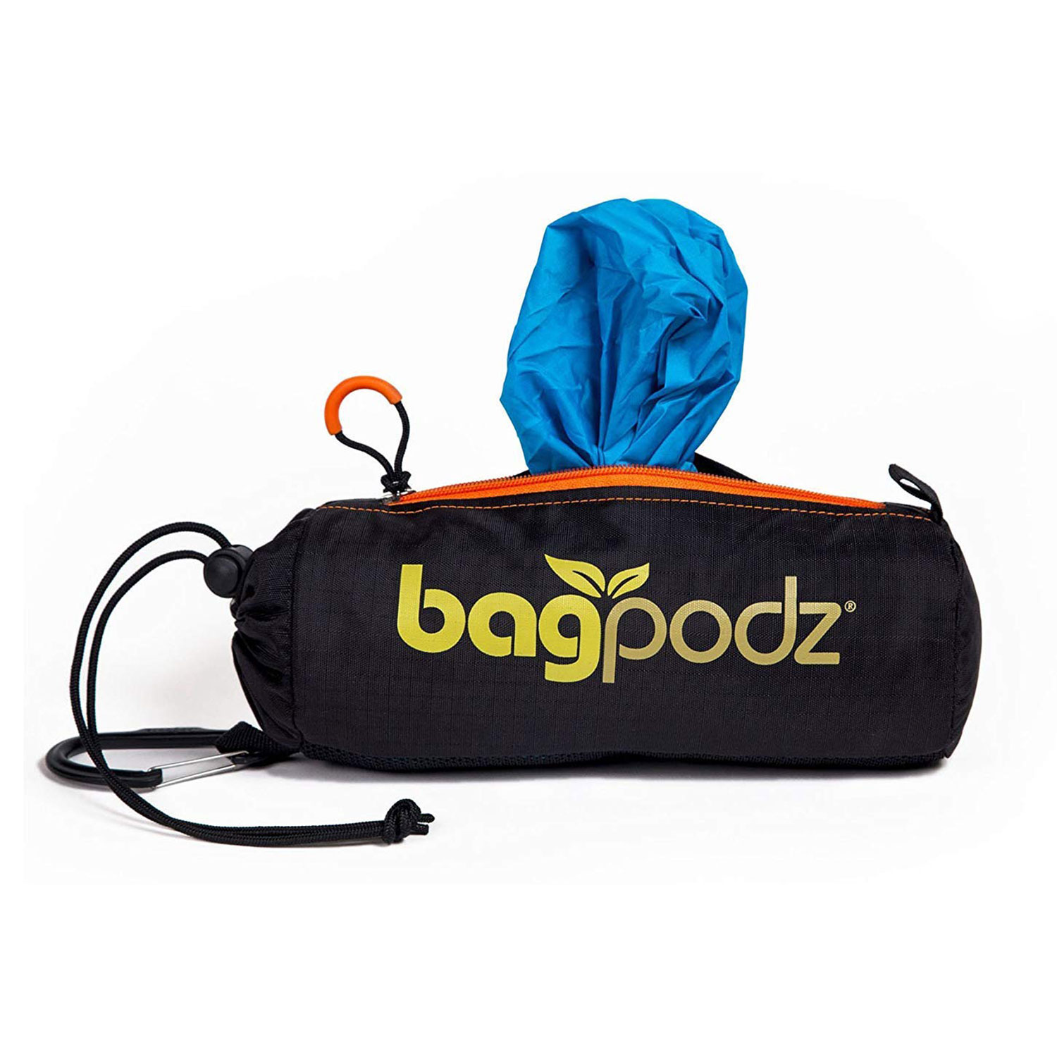 BagPodz Reusable Shopping Bags 10 Foldable Bags Inside a Compact Pod with Carry Clip