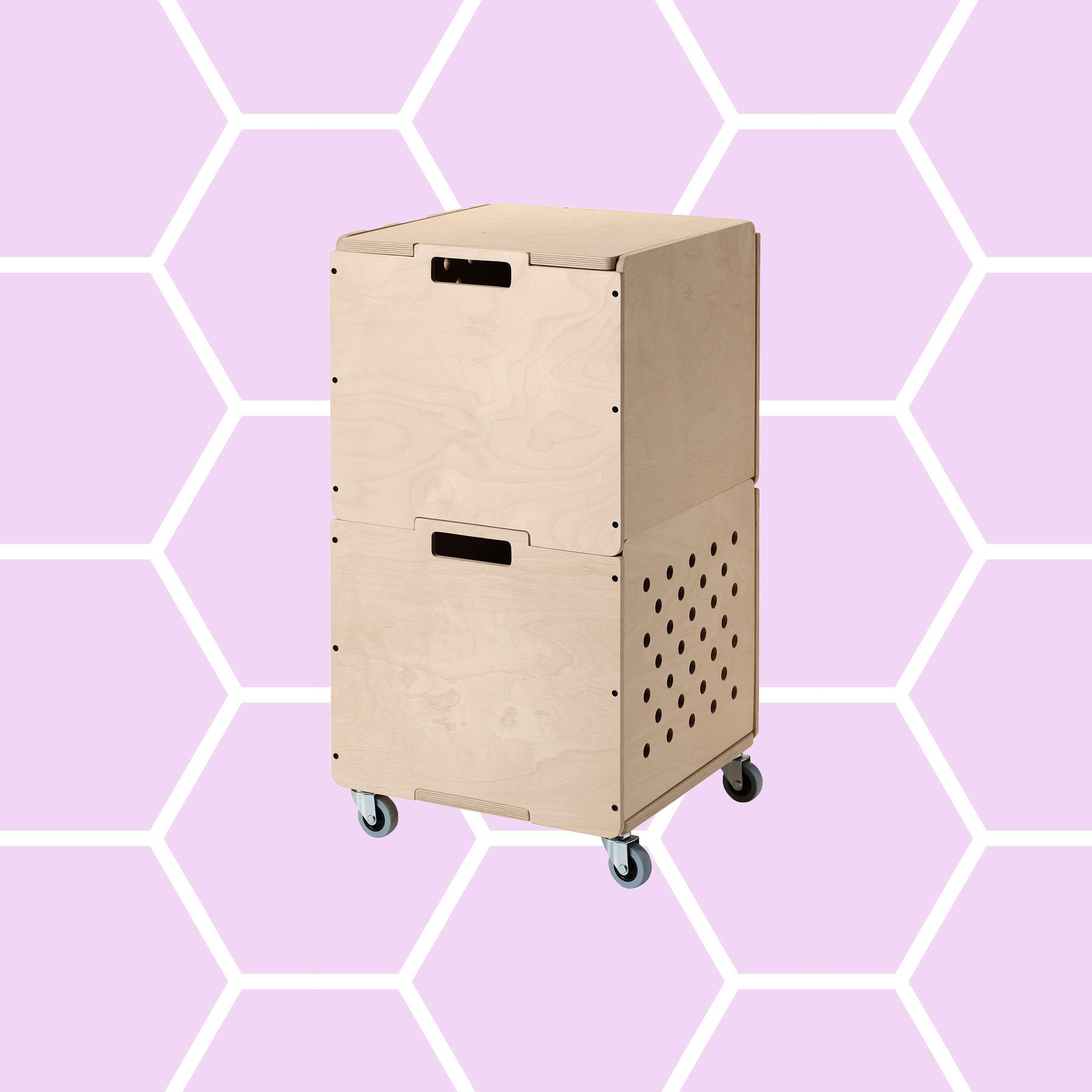 6 Clever Items 08/09/19 IKEA OMBYTE storage combination on casters tout