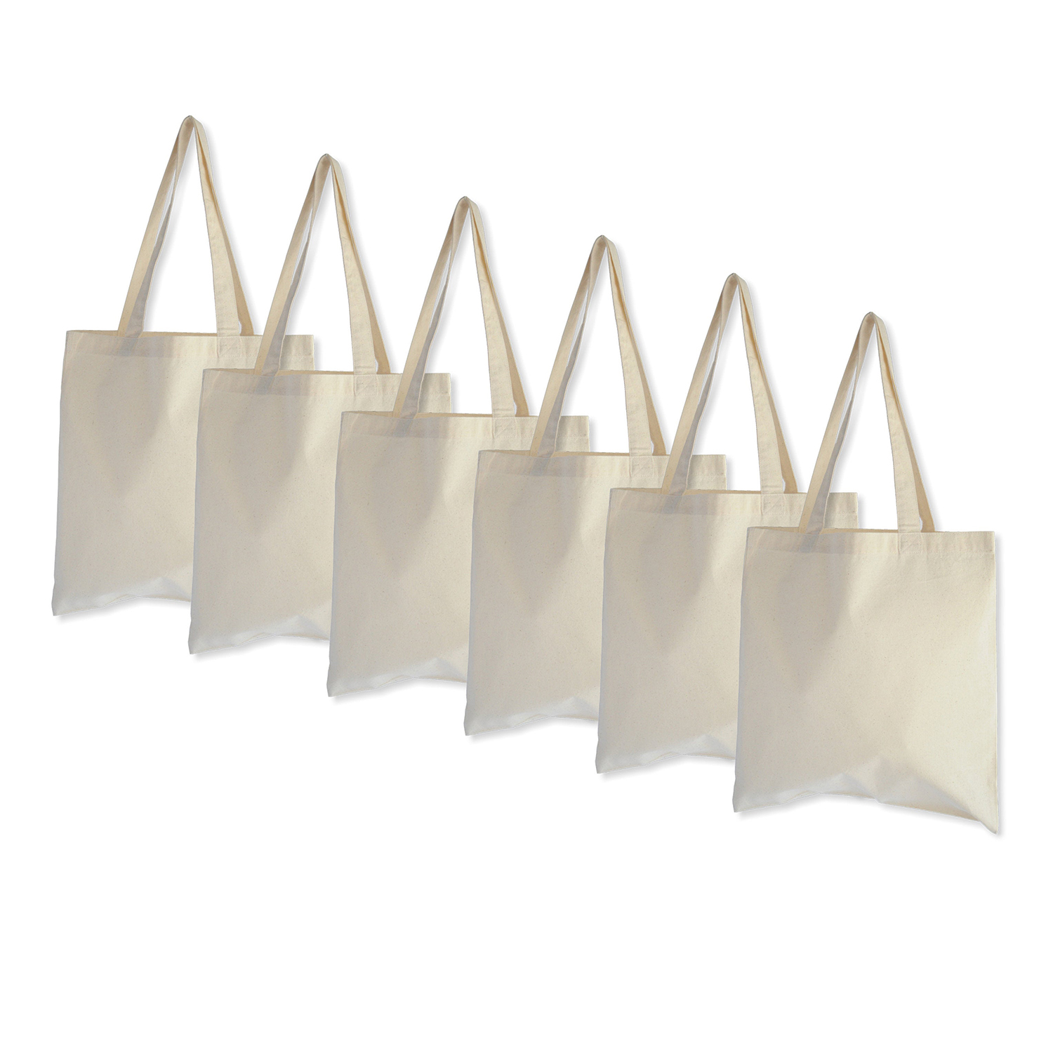 Earthwise Reusable Grocery Bags X-Large 100% Cotton Canvas Shopping Tote 3 Pack