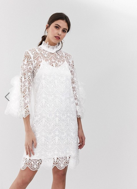 Y.A.S. Bridal High Neck Dress