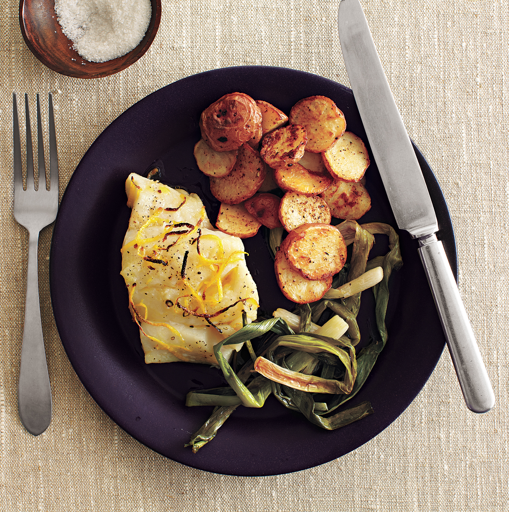 Clone of Roasted Cod and Scallions with Spiced Potatoes (Roasting Recipes)