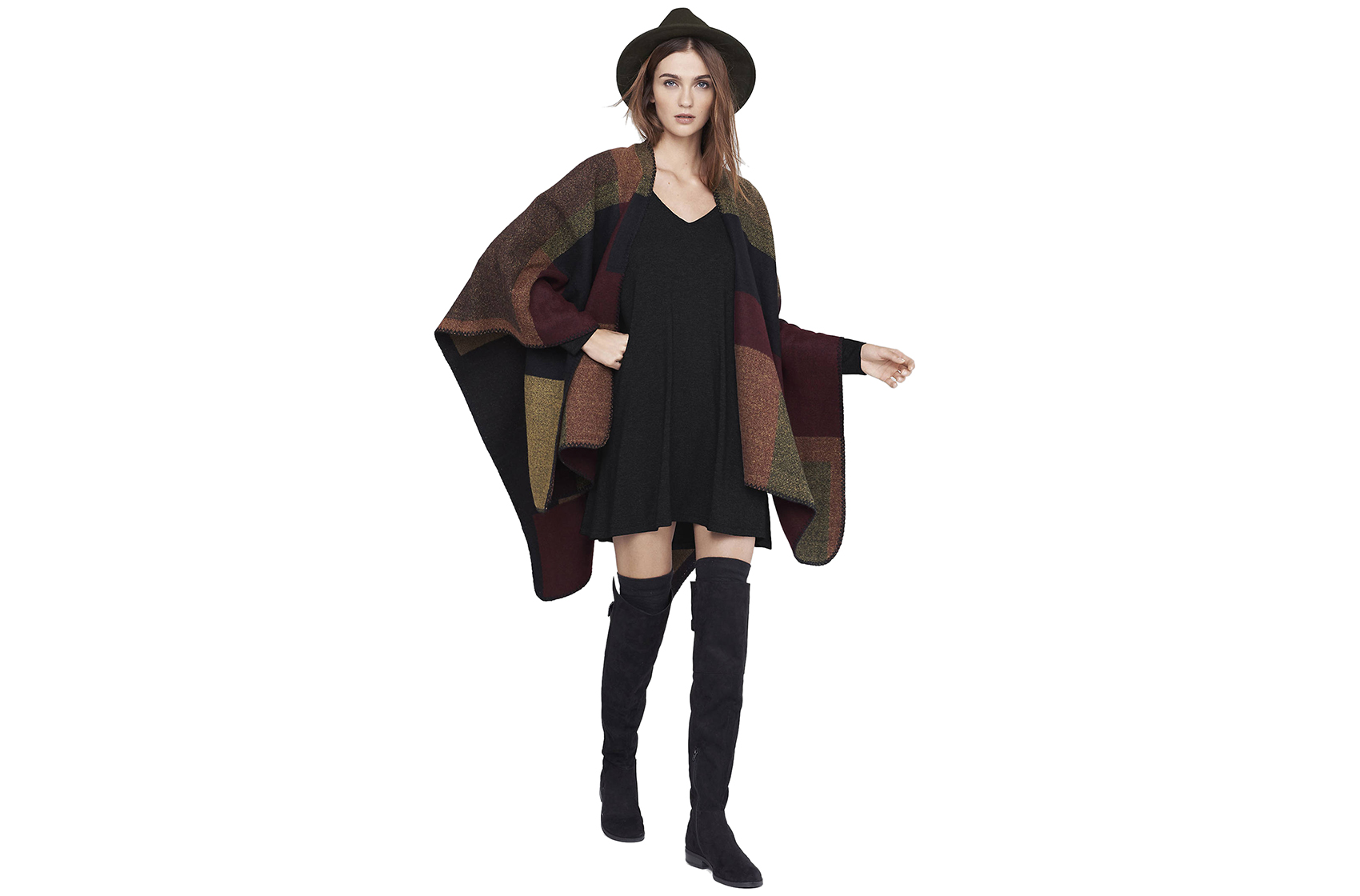 Express Color Block Blanket Cover-Up