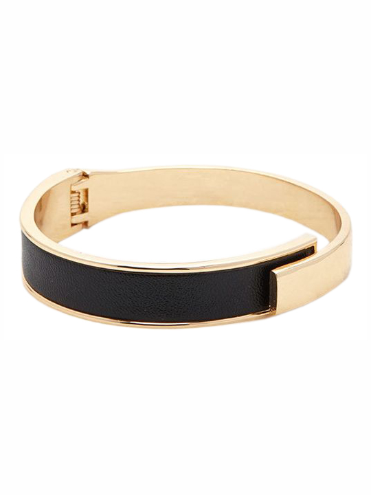 Forever 21 Faux Leather Hinge Cuff