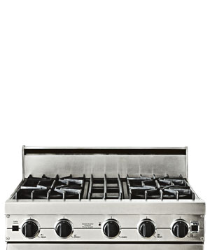 Stainless steel stovetop