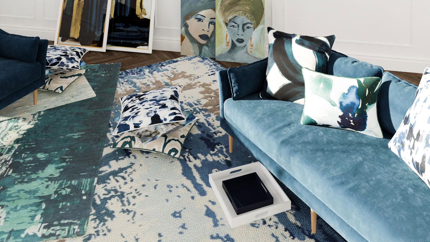 2019 Design Trends from Modsy - Paint Strokes