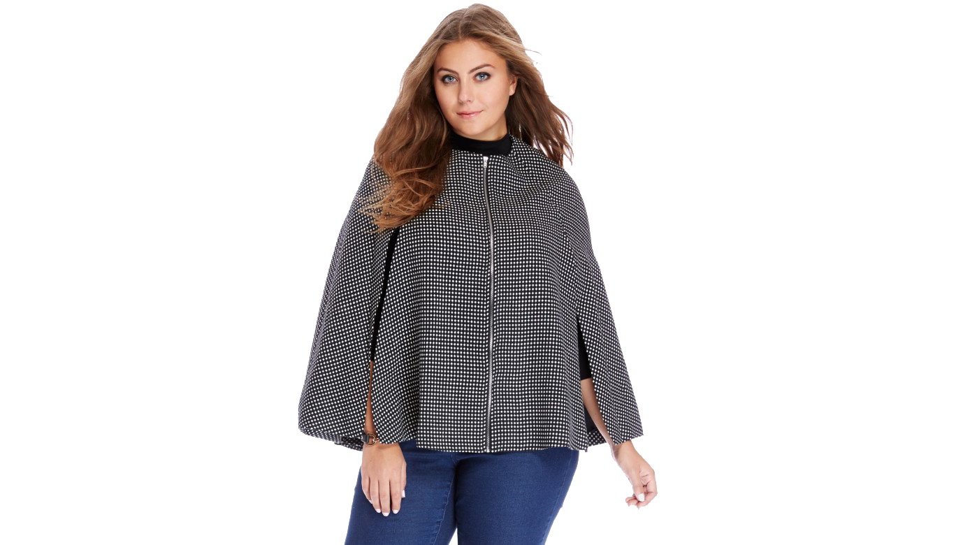 FTF Madeline Dotted Zip Cape