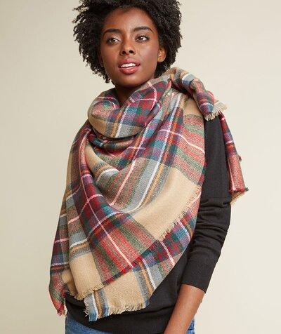 49b0706b6 11 Tips for How to Wear and Tie a Blanket Scarf | Real Simple