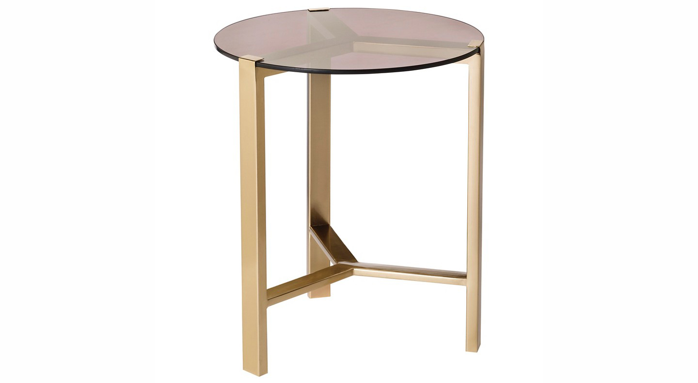 Nate Berkus Glass Top Accent Table