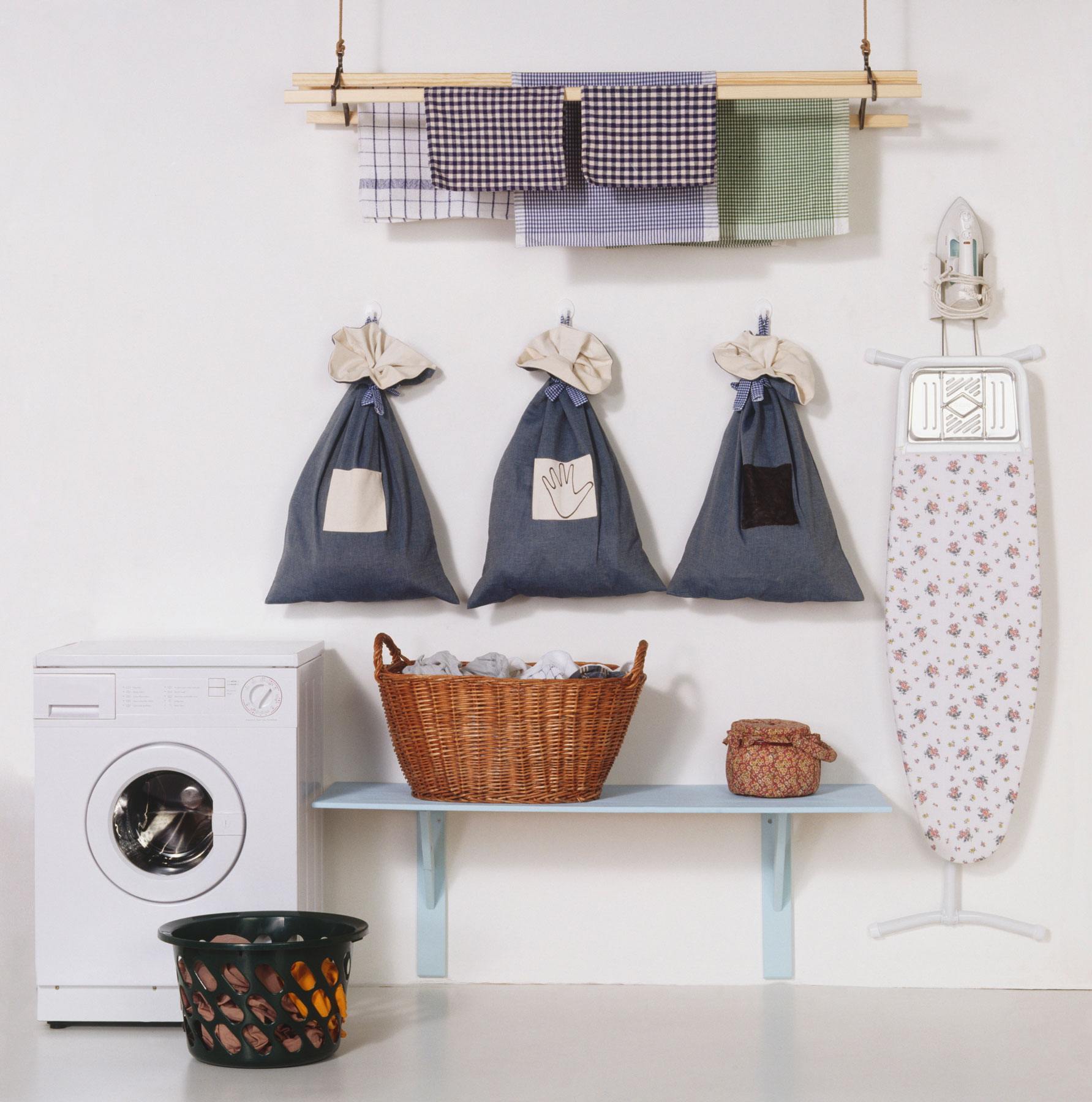 No-paint room upgrades - The Laundry Room