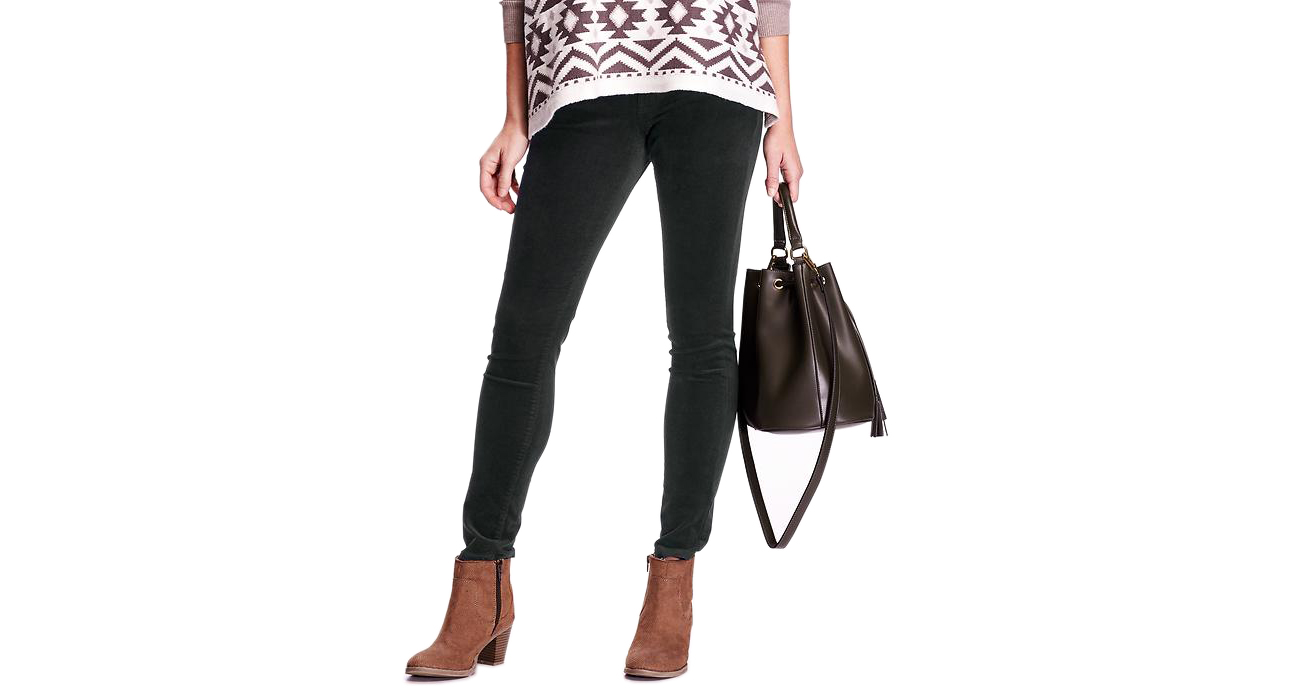 Old Navy Women's Mid Rise Rockstar Skinny Cords