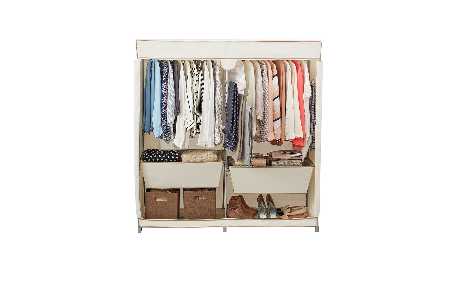 Real Simple Canvas Closet (6 Organizers That Will Cut the Clutter in Your Closet for Good)