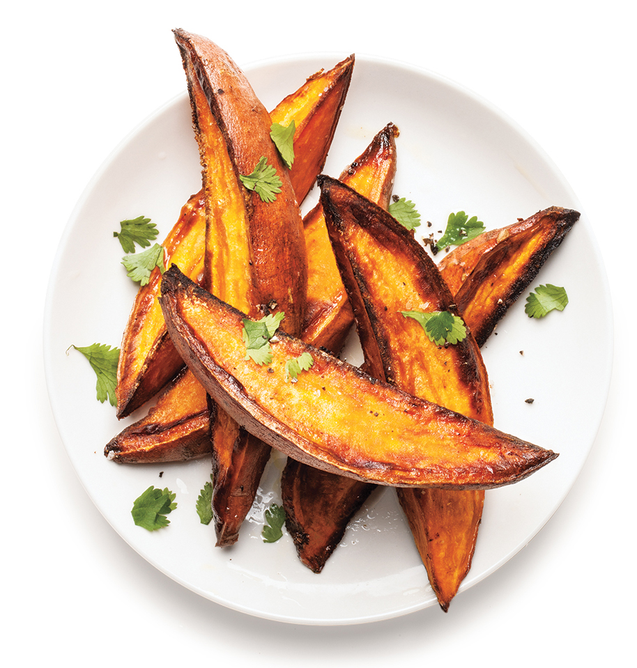 Clone of Crispy Roasted Sweet Potatoes With Lime and Cilantro (Roasting Recipes)